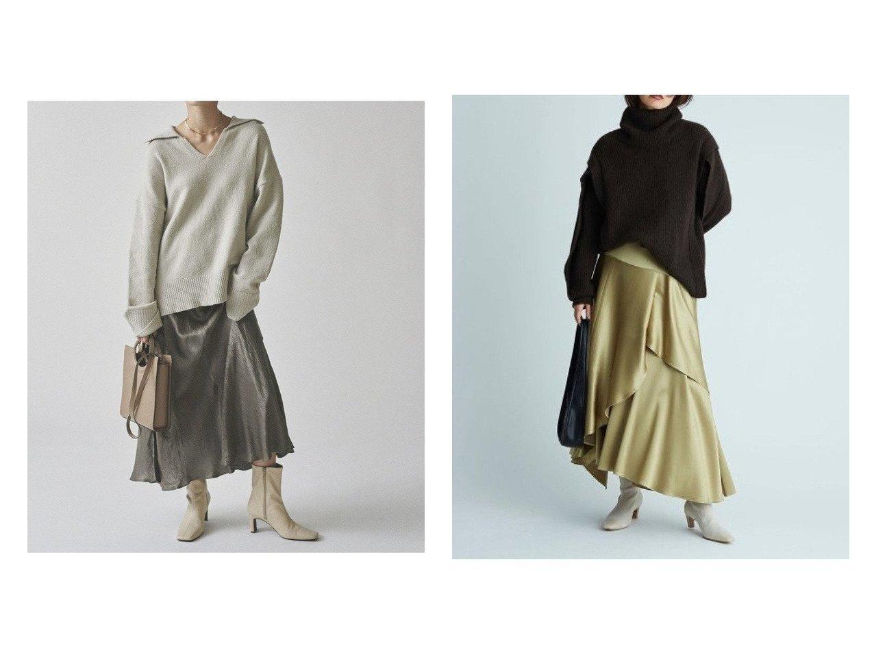 【Mila Owen/ミラオーウェン】のヴィンテージサテンロングスカート&【FRAY I.D/フレイ アイディー】のサテンフレアスカート スカートのおすすめ!人気、トレンド・レディースファッションの通販  おすすめで人気の流行・トレンド、ファッションの通販商品 メンズファッション・キッズファッション・インテリア・家具・レディースファッション・服の通販 founy(ファニー) https://founy.com/ ファッション Fashion レディースファッション WOMEN スカート Skirt ロングスカート Long Skirt Aライン/フレアスカート Flared A-Line Skirts サテン シンプル ロング ワッシャー ヴィンテージ 楽ちん 1月号 ティアード ドレープ フレア |ID:crp329100000009712