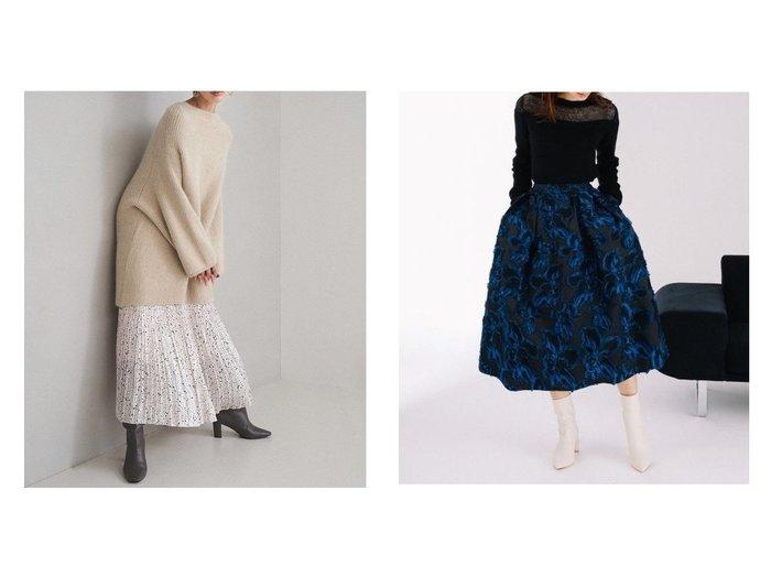 【FRAY I.D/フレイ アイディー】のグロッシープリーツプリントスカート&【CELFORD/セルフォード】のオリジナルフラワーJQスカート スカートのおすすめ!人気、トレンド・レディースファッションの通販  おすすめファッション通販アイテム インテリア・キッズ・メンズ・レディースファッション・服の通販 founy(ファニー) https://founy.com/ ファッション Fashion レディースファッション WOMEN スカート Skirt ロングスカート Long Skirt ミニスカート Mini Skirts アシンメトリー コンパクト サテン チェック ドット プリント プリーツ ロング カットジャガード スタイリッシュ フェミニン フラワー ミニスカート ラグジュアリー |ID:crp329100000009713
