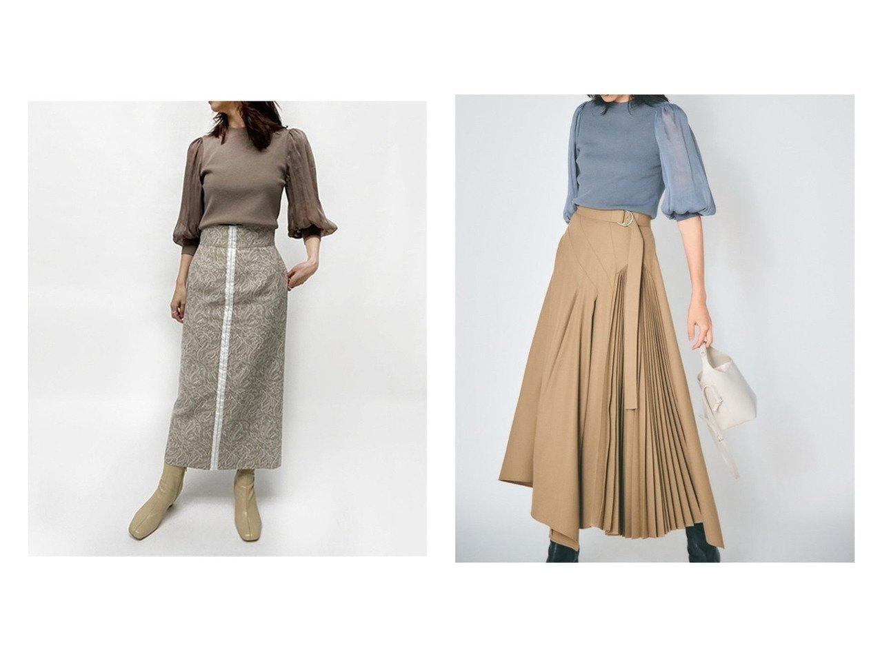 【FRAY I.D/フレイ アイディー】のタイトジャガードスカート&アシメプリーツスカート スカートのおすすめ!人気、トレンド・レディースファッションの通販  おすすめで人気の流行・トレンド、ファッションの通販商品 メンズファッション・キッズファッション・インテリア・家具・レディースファッション・服の通販 founy(ファニー) https://founy.com/ ファッション Fashion レディースファッション WOMEN スカート Skirt プリーツスカート Pleated Skirts スリット センター タイトスカート アシンメトリー ギャザー セットアップ プリーツ ミックス |ID:crp329100000009715