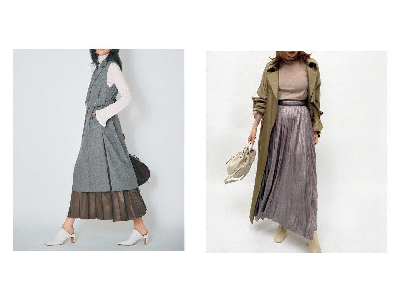 【FRAY I.D/フレイ アイディー】のレザーライクサテンプリーツSK&ピンタックプリーツレザーSK スカートのおすすめ!人気、トレンド・レディースファッションの通販  おすすめで人気の流行・トレンド、ファッションの通販商品 メンズファッション・キッズファッション・インテリア・家具・レディースファッション・服の通販 founy(ファニー) https://founy.com/ ファッション Fashion レディースファッション WOMEN スカート Skirt プリーツスカート Pleated Skirts ギャザー フェイクレザー プリーツ |ID:crp329100000009717