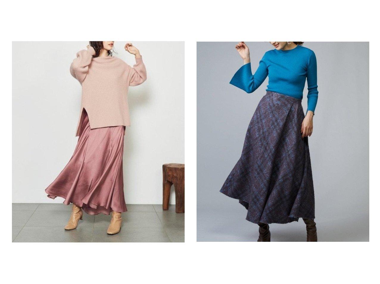 【SNIDEL/スナイデル】のアシメントリーデザインスカート&ニットスカートセットアップ スカートのおすすめ!人気、トレンド・レディースファッションの通販  おすすめで人気の流行・トレンド、ファッションの通販商品 メンズファッション・キッズファッション・インテリア・家具・レディースファッション・服の通販 founy(ファニー) https://founy.com/ ファッション Fashion レディースファッション WOMEN セットアップ Setup スカート Skirt スカート Skirt ミニスカート Mini Skirts イエロー インナー エレガント カットソー 11月号 スリット セットアップ バランス フレア ロング アシンメトリー オレンジ 9月号 チェック ミニスカート A/W 秋冬 AW Autumn/Winter / FW Fall-Winter |ID:crp329100000009720