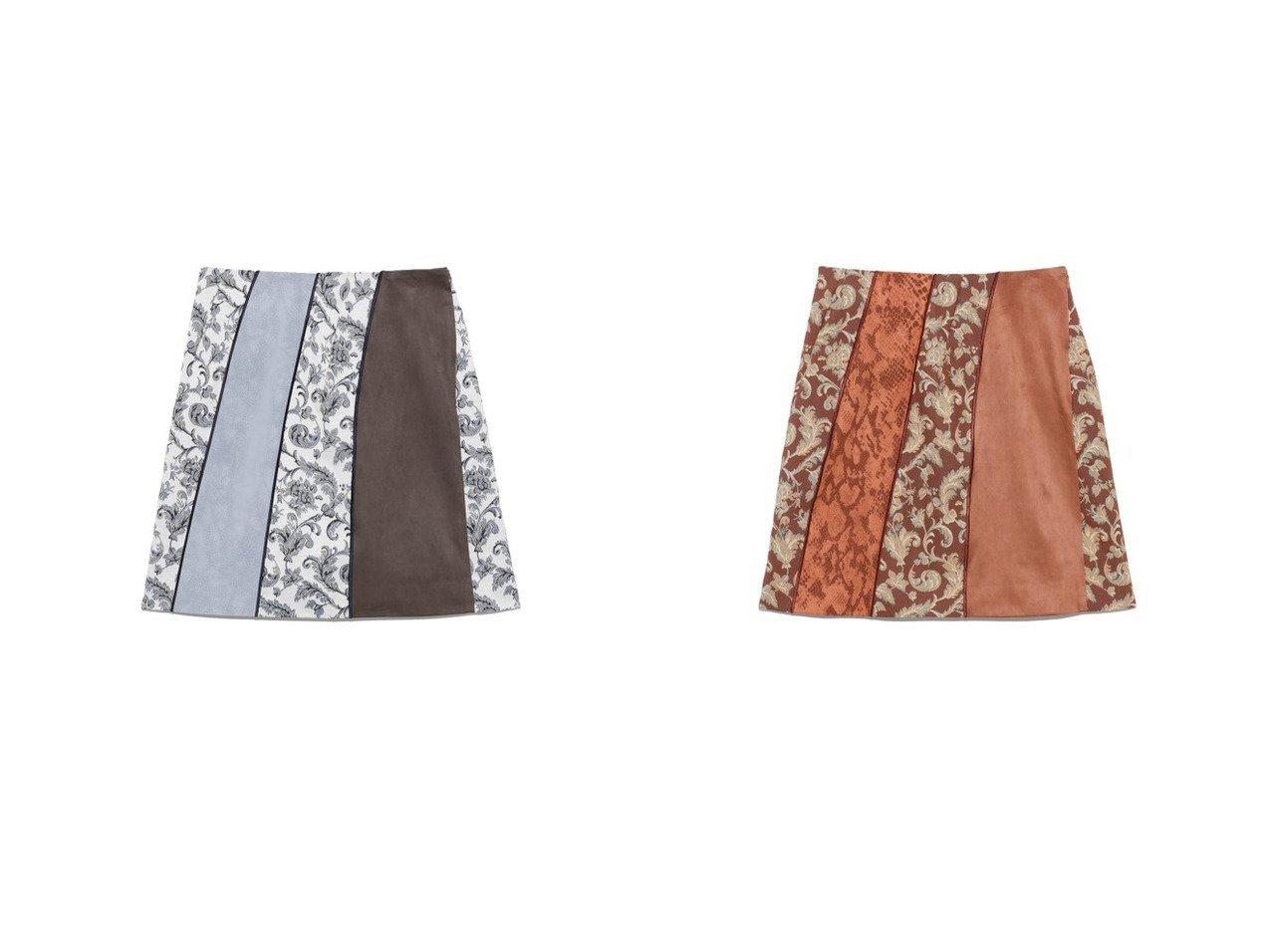 【Lily Brown/リリーブラウン】のカラーブロックスカート スカートのおすすめ!人気、トレンド・レディースファッションの通販  おすすめで人気の流行・トレンド、ファッションの通販商品 メンズファッション・キッズファッション・インテリア・家具・レディースファッション・服の通販 founy(ファニー) https://founy.com/ ファッション Fashion レディースファッション WOMEN スカート Skirt スウェード スマート 台形 バランス パイソン ブロック ミックス ミニスカート 無地 |ID:crp329100000009728