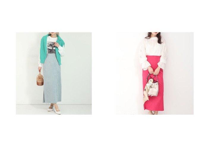 【Mystrada/マイストラーダ】の切替えスエードタイトスカート スカートのおすすめ!人気、トレンド・レディースファッションの通販  おすすめファッション通販アイテム レディースファッション・服の通販 founy(ファニー) ファッション Fashion レディースファッション WOMEN スカート Skirt カットソー スリット フェイクスエード ペンシル 切替 |ID:crp329100000009729