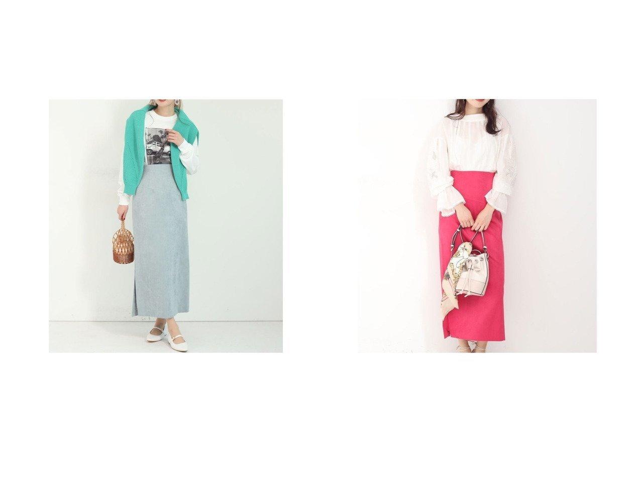 【Mystrada/マイストラーダ】の切替えスエードタイトスカート スカートのおすすめ!人気、トレンド・レディースファッションの通販  おすすめで人気の流行・トレンド、ファッションの通販商品 メンズファッション・キッズファッション・インテリア・家具・レディースファッション・服の通販 founy(ファニー) https://founy.com/ ファッション Fashion レディースファッション WOMEN スカート Skirt カットソー スリット フェイクスエード ペンシル 切替 |ID:crp329100000009729