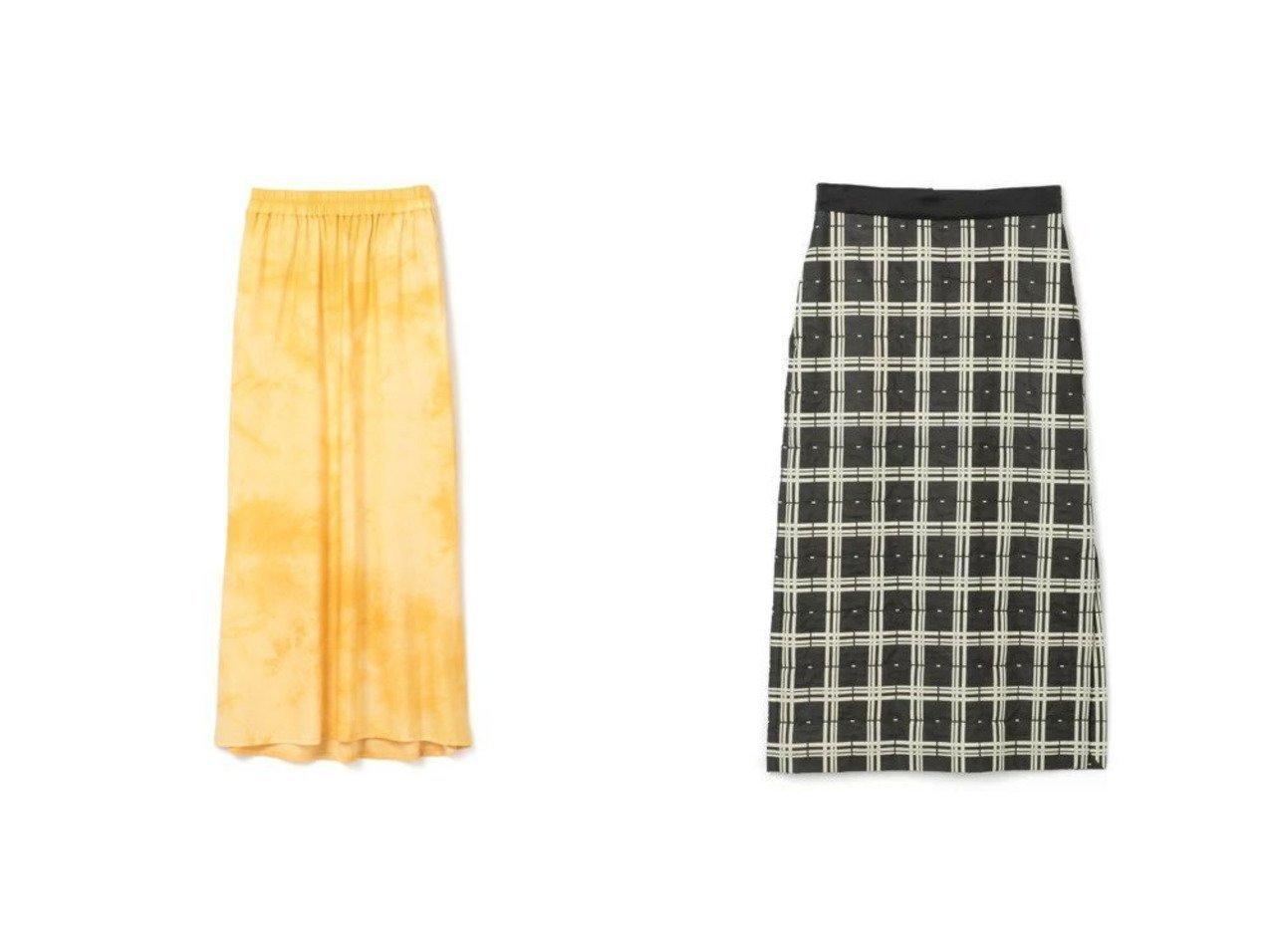 【08sircus/ゼロエイトサーカス】のPigment check bonding skirt&【R JUBILEE/アール ジュビリー】のSpot Dyeing Skirt スカートのおすすめ!人気、トレンド・レディースファッションの通販  おすすめで人気の流行・トレンド、ファッションの通販商品 メンズファッション・キッズファッション・インテリア・家具・レディースファッション・服の通販 founy(ファニー) https://founy.com/ ファッション Fashion レディースファッション WOMEN スカート Skirt マキシ ロング 楽ちん 2021年 2021 2021 春夏 S/S SS Spring/Summer 2021 S/S 春夏 SS Spring/Summer エレガント サテン スリット チェック プリント ボンディング |ID:crp329100000009735