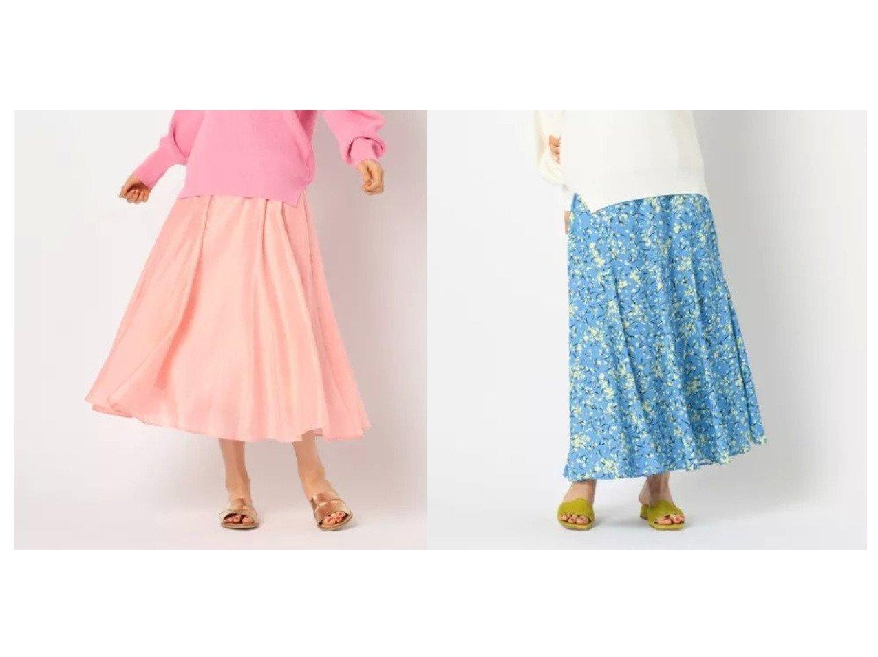 【NOLLEY'S/ノーリーズ】のシアースラブミディフレアスカート&小花柄スカート スカートのおすすめ!人気、トレンド・レディースファッションの通販  おすすめで人気の流行・トレンド、ファッションの通販商品 メンズファッション・キッズファッション・インテリア・家具・レディースファッション・服の通販 founy(ファニー) https://founy.com/ ファッション Fashion レディースファッション WOMEN スカート Skirt Aライン/フレアスカート Flared A-Line Skirts シアー フレア リネン 春 マキシ ロング |ID:crp329100000009736
