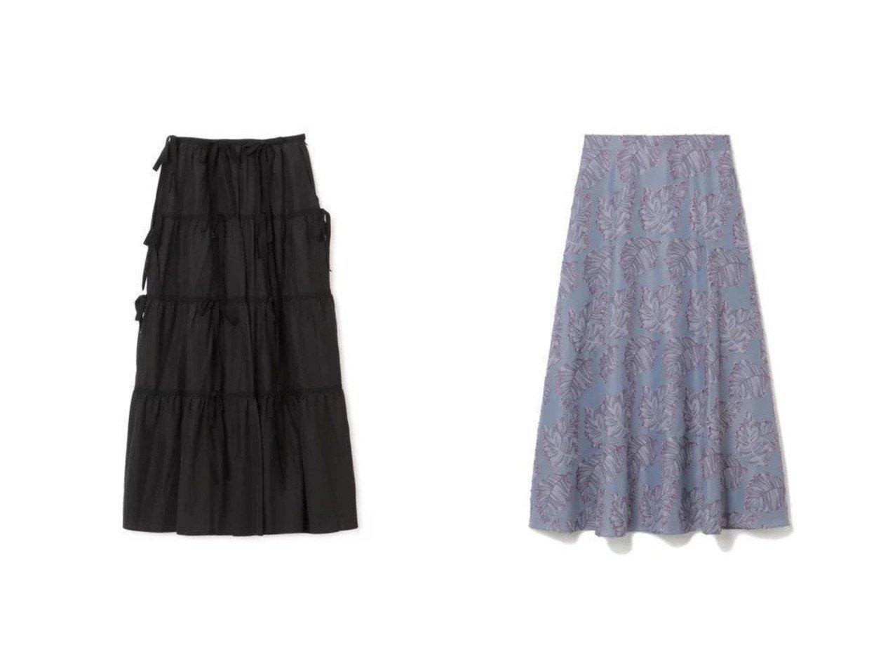 【LOKITHO/ロキト】のRIBBON SKIRT&【M7days/エムセブンデイズ】のリーフジャカードスカート スカートのおすすめ!人気、トレンド・レディースファッションの通販  おすすめで人気の流行・トレンド、ファッションの通販商品 メンズファッション・キッズファッション・インテリア・家具・レディースファッション・服の通販 founy(ファニー) https://founy.com/ ファッション Fashion レディースファッション WOMEN スカート Skirt 2021年 2021 2021 春夏 S/S SS Spring/Summer 2021 S/S 春夏 SS Spring/Summer マキシ リネン リボン ロング ジャカード フレア プリント ボタニカル 洗える |ID:crp329100000009737