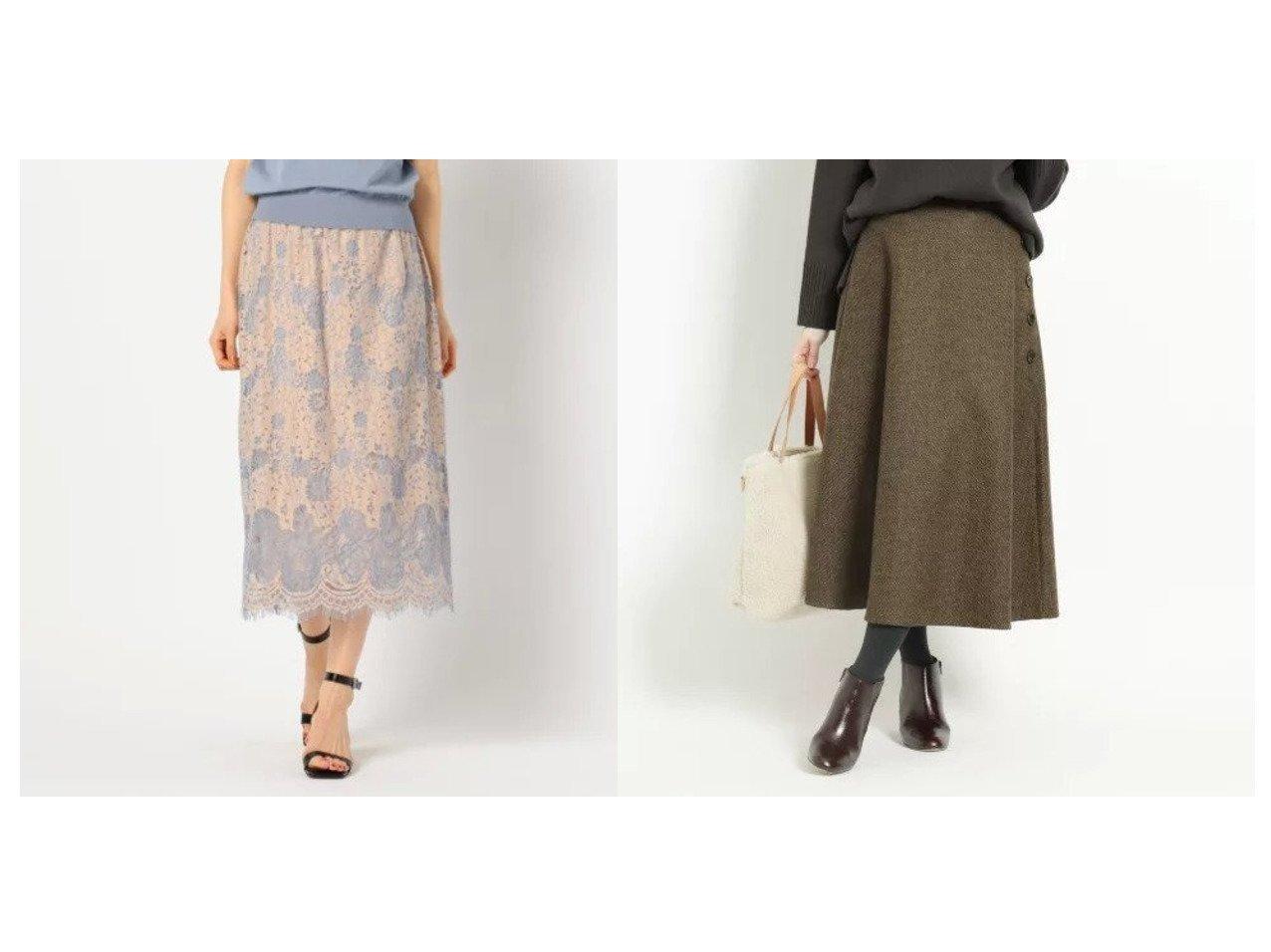 【Dessin/デッサン】の【XS〜Lサイズあり】フレアースカート&【NOLLEY'S sophi/ノーリーズソフィー】のウエストリブレーススカート スカートのおすすめ!人気、トレンド・レディースファッションの通販  おすすめで人気の流行・トレンド、ファッションの通販商品 メンズファッション・キッズファッション・インテリア・家具・レディースファッション・服の通販 founy(ファニー) https://founy.com/ ファッション Fashion レディースファッション WOMEN スカート Skirt エレガント カーディガン スウェット セットアップ マキシ レース ロング クラシカル ツィード ツイード ネップ フレアースカート ポケット ミックス |ID:crp329100000009738