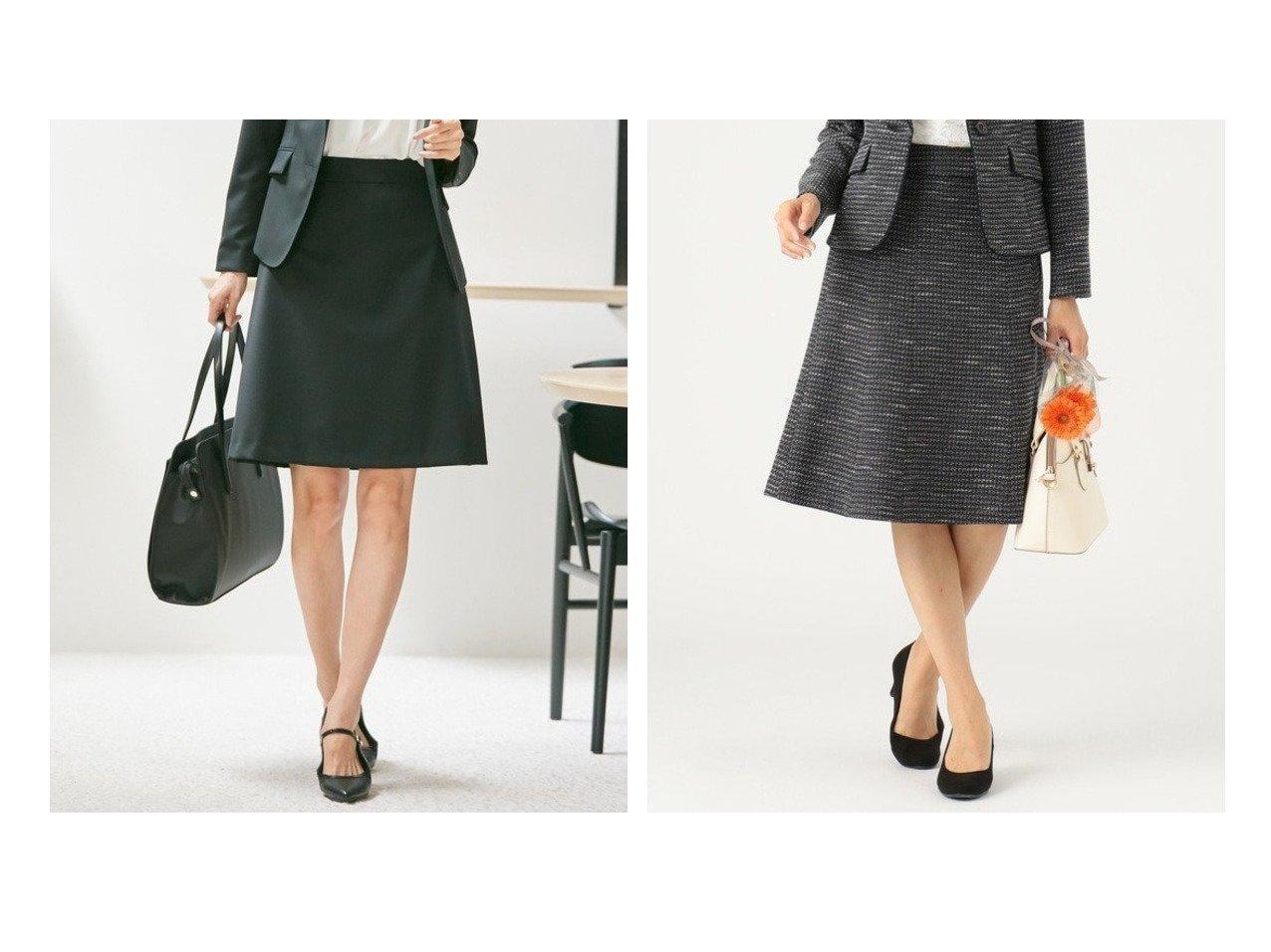 【any SiS/エニィ スィス】の【セットアップ対応】リップルボーダーストレッチ スカート&【KUMIKYOKU/組曲】の【セットアップ対応】ウォッシャブルウールストレッチ スカート スカートのおすすめ!人気、トレンド・レディースファッションの通販  おすすめで人気の流行・トレンド、ファッションの通販商品 メンズファッション・キッズファッション・インテリア・家具・レディースファッション・服の通販 founy(ファニー) https://founy.com/ ファッション Fashion レディースファッション WOMEN セットアップ Setup スカート Skirt 送料無料 Free Shipping シンプル ジャケット ストレッチ スーツ セットアップ フェミニン 台形 定番 洗える シャイニー 雑誌 ツイード 人気 ボーダー |ID:crp329100000009745