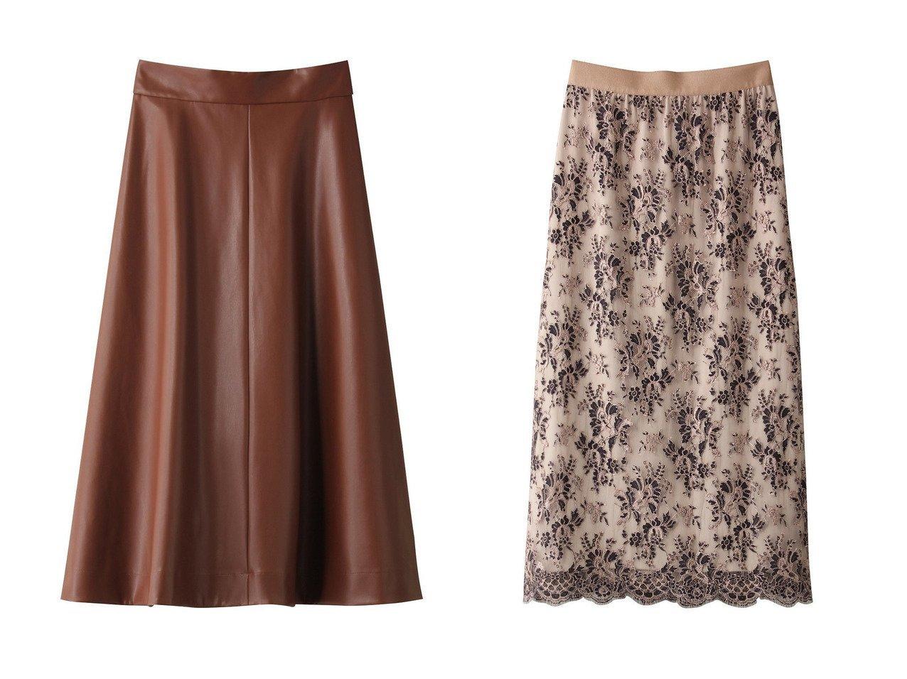 【ANAYI/アナイ】のフェイクレザーフレアスカート&フラワーリバーレースロングスカート スカートのおすすめ!人気、トレンド・レディースファッションの通販  おすすめで人気の流行・トレンド、ファッションの通販商品 メンズファッション・キッズファッション・インテリア・家具・レディースファッション・服の通販 founy(ファニー) https://founy.com/ ファッション Fashion レディースファッション WOMEN スカート Skirt Aライン/フレアスカート Flared A-Line Skirts ロングスカート Long Skirt トレンド フェイクレザー フレア ロング 今季 オケージョン フラワー レース |ID:crp329100000009762