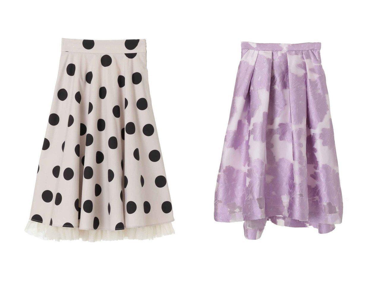 【31 Sons de mode/トランテアン ソン ドゥ モード】の裾チュールミディ丈柄スカート&花柄ジャカードスカート スカートのおすすめ!人気、トレンド・レディースファッションの通販  おすすめで人気の流行・トレンド、ファッションの通販商品 メンズファッション・キッズファッション・インテリア・家具・レディースファッション・服の通販 founy(ファニー) https://founy.com/ ファッション Fashion レディースファッション WOMEN スカート Skirt 2020年 2020 2020-2021 秋冬 A/W AW Autumn/Winter / FW Fall-Winter 2020-2021 2021年 2021 2021 春夏 S/S SS Spring/Summer 2021 ギンガム チェック チュール ドット フェミニン 春 A/W 秋冬 AW Autumn/Winter / FW Fall-Winter |ID:crp329100000009764