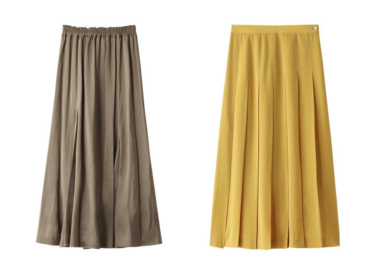 【Chaos/カオス】のCRモイストマチフレアースカート&【PLAIN PEOPLE/プレインピープル】のジーナデシンタックプリーツスカート スカートのおすすめ!人気、トレンド・レディースファッションの通販  おすすめで人気の流行・トレンド、ファッションの通販商品 メンズファッション・キッズファッション・インテリア・家具・レディースファッション・服の通販 founy(ファニー) https://founy.com/ ファッション Fashion レディースファッション WOMEN スカート Skirt プリーツスカート Pleated Skirts ロングスカート Long Skirt フレア リラックス ガーリー フェミニン プリーツ ロング |ID:crp329100000009768