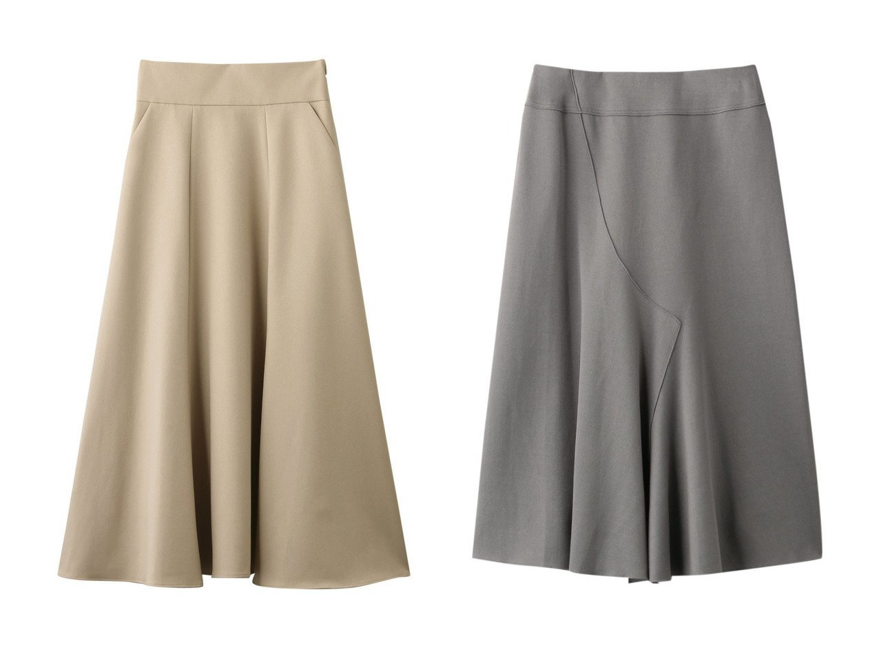 【allureville/アルアバイル】のフランネルマーメイドフレアスカート&【PLAIN PEOPLE/プレインピープル】のコットンプレミアムダブルフェイススカート スカートのおすすめ!人気、トレンド・レディースファッションの通販  おすすめで人気の流行・トレンド、ファッションの通販商品 メンズファッション・キッズファッション・インテリア・家具・レディースファッション・服の通販 founy(ファニー) https://founy.com/ ファッション Fashion レディースファッション WOMEN スカート Skirt Aライン/フレアスカート Flared A-Line Skirts ロングスカート Long Skirt シンプル パーティ フレア ロング ショート 羽織 |ID:crp329100000009769