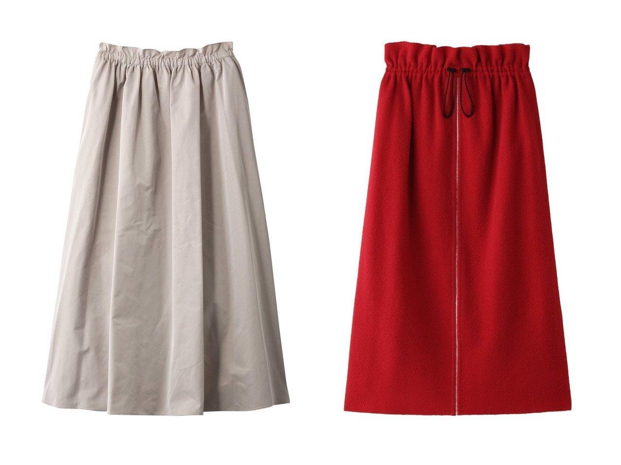 【LE PHIL/ル フィル】のハイカウントメモリーギャバフレアスカート&【PLAIN PEOPLE/プレインピープル】のウールブークレーギャザースカート スカートのおすすめ!人気、トレンド・レディースファッションの通販  おすすめで人気の流行・トレンド、ファッションの通販商品 メンズファッション・キッズファッション・インテリア・家具・レディースファッション・服の通販 founy(ファニー) https://founy.com/ ファッション Fashion レディースファッション WOMEN スカート Skirt Aライン/フレアスカート Flared A-Line Skirts ロングスカート Long Skirt セットアップ フェミニン フレア ロング ギャザー スマート バランス 定番 |ID:crp329100000009770