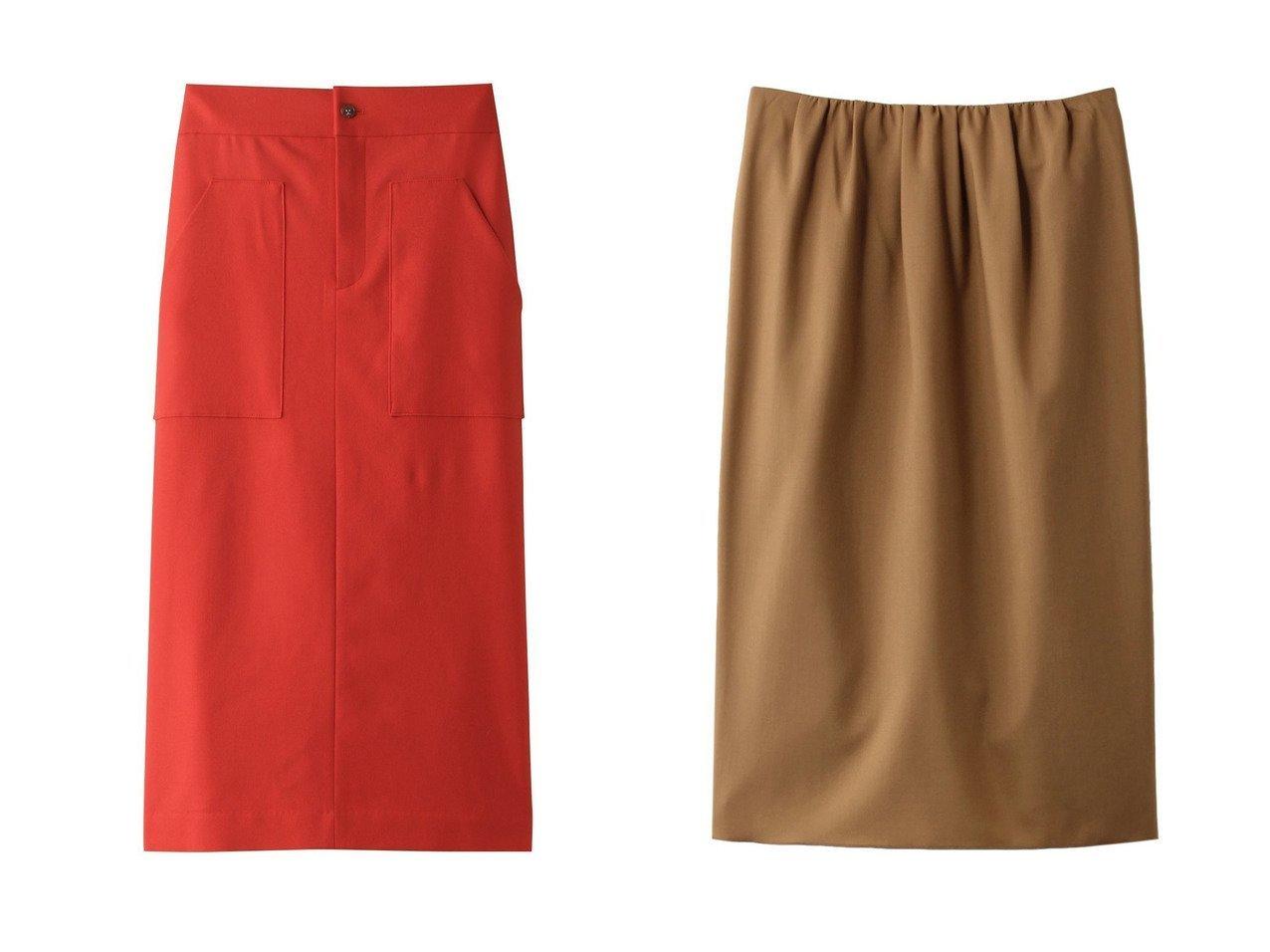【Whim Gazette/ウィムガゼット】のフラノストレートスカート&【PLAIN PEOPLE/プレインピープル】のウールトロピカルタイトスカート スカートのおすすめ!人気、トレンド・レディースファッションの通販  おすすめで人気の流行・トレンド、ファッションの通販商品 メンズファッション・キッズファッション・インテリア・家具・レディースファッション・服の通販 founy(ファニー) https://founy.com/ ファッション Fashion レディースファッション WOMEN スカート Skirt シンプル タイトスカート ポケット A/W 秋冬 AW Autumn/Winter / FW Fall-Winter なめらか コンパクト ベーシック |ID:crp329100000009771