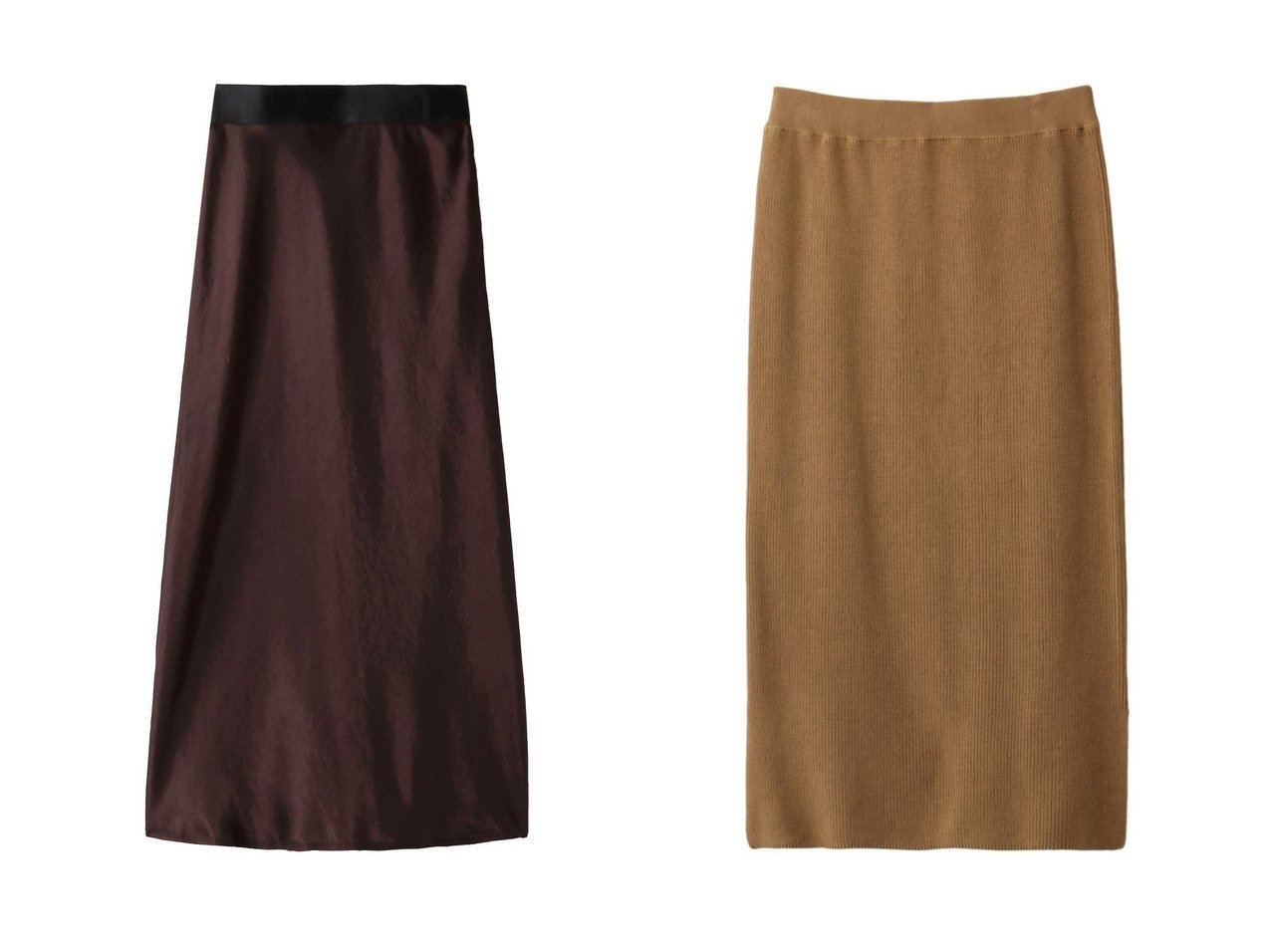 【PLAIN PEOPLE/プレインピープル】のアセテートヘビーサテンスカート&コットン片畦ニットスカート スカートのおすすめ!人気、トレンド・レディースファッションの通販  おすすめで人気の流行・トレンド、ファッションの通販商品 メンズファッション・キッズファッション・インテリア・家具・レディースファッション・服の通販 founy(ファニー) https://founy.com/ ファッション Fashion レディースファッション WOMEN スカート Skirt なめらか サテン ドレス ドレープ ロング シンプル セットアップ ベーシック 定番 畦 |ID:crp329100000009772