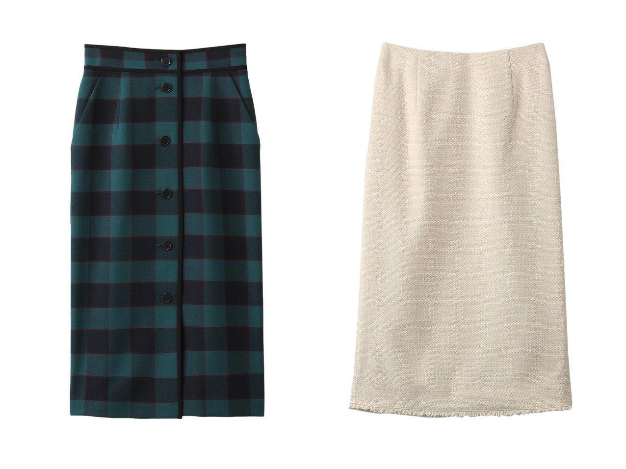 【allureville/アルアバイル】のリオペルチェックタイトスカート&スラブツイードタイトスカート スカートのおすすめ!人気、トレンド・レディースファッションの通販  おすすめで人気の流行・トレンド、ファッションの通販商品 メンズファッション・キッズファッション・インテリア・家具・レディースファッション・服の通販 founy(ファニー) https://founy.com/ ファッション Fashion レディースファッション WOMEN スカート Skirt タイトスカート チェック パイピング フロント ジャケット セットアップ パーティ フリンジ |ID:crp329100000009776