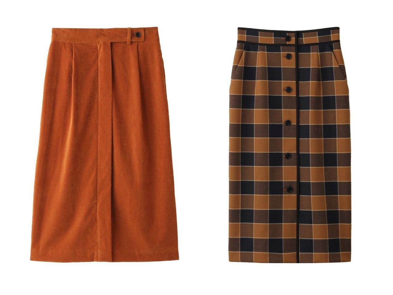 【PLAIN PEOPLE/プレインピープル】のシャンブルー別珍ストレッチスカート&【allureville/アルアバイル】のリオペルチェックタイトスカート スカートのおすすめ!人気、トレンド・レディースファッションの通販  おすすめで人気の流行・トレンド、ファッションの通販商品 メンズファッション・キッズファッション・インテリア・家具・レディースファッション・服の通販 founy(ファニー) https://founy.com/ ファッション Fashion レディースファッション WOMEN スカート Skirt ストレッチ A/W 秋冬 AW Autumn/Winter / FW Fall-Winter タイトスカート チェック パイピング フロント |ID:crp329100000009777