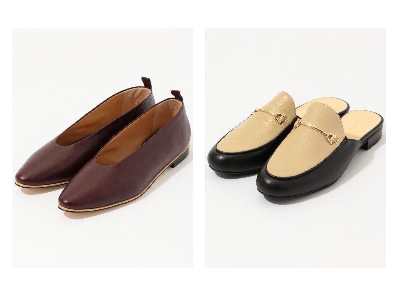 【TOMORROWLAND GOODs/トゥモローランド グッズ】のTOMORROWLAND アーモンドトゥーフラットシューズ&TOMORROWLAND ローファースリッポン シューズ・靴のおすすめ!人気、トレンド・レディースファッションの通販 おすすめで人気の流行・トレンド、ファッションの通販商品 メンズファッション・キッズファッション・インテリア・家具・レディースファッション・服の通販 founy(ファニー) https://founy.com/ ファッション Fashion レディースファッション WOMEN NEW・新作・新着・新入荷 New Arrivals シューズ シンプル フラット |ID:crp329100000009780