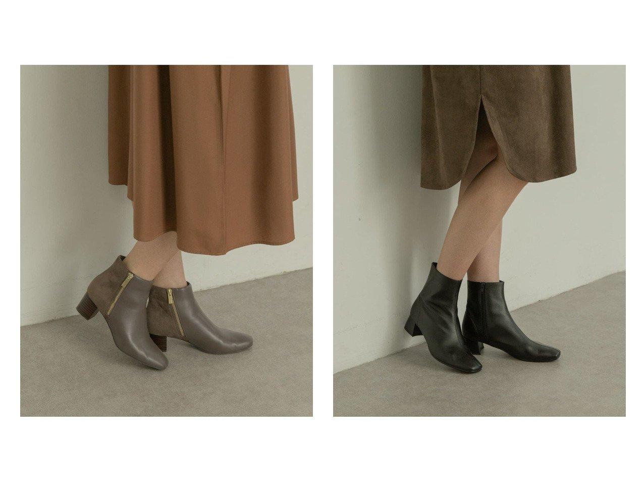 【RODE SKO/ロデスコ】のHEDY スクエアトゥダブルファスナーブーツ&ELNA スクエアトゥプレーンブーツ シューズ・靴のおすすめ!人気、トレンド・レディースファッションの通販  おすすめで人気の流行・トレンド、ファッションの通販商品 メンズファッション・キッズファッション・インテリア・家具・レディースファッション・服の通販 founy(ファニー) https://founy.com/ ファッション Fashion レディースファッション WOMEN くるぶし サイドジップ シューズ ショート スエード フェイクレザー フレア ロング |ID:crp329100000009803