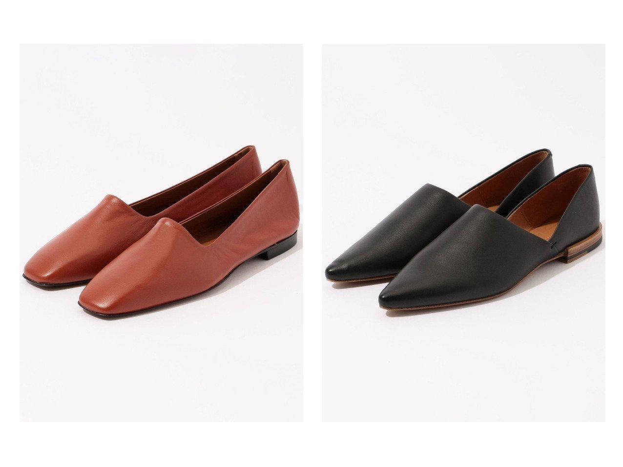 【DES PRES / TOMORROWLAND/デプレ】のDES PRES ポインテッドフラットシューズ&【GALERIE VIE / TOMORROWLAND/ギャルリー ヴィー】のATP レザーフラットシューズ シューズ・靴のおすすめ!人気、トレンド・レディースファッションの通販  おすすめで人気の流行・トレンド、ファッションの通販商品 メンズファッション・キッズファッション・インテリア・家具・レディースファッション・服の通販 founy(ファニー) https://founy.com/ ファッション Fashion レディースファッション WOMEN NEW・新作・新着・新入荷 New Arrivals イタリア シューズ シンプル ハンド フラット ベーシック カッティング |ID:crp329100000009812