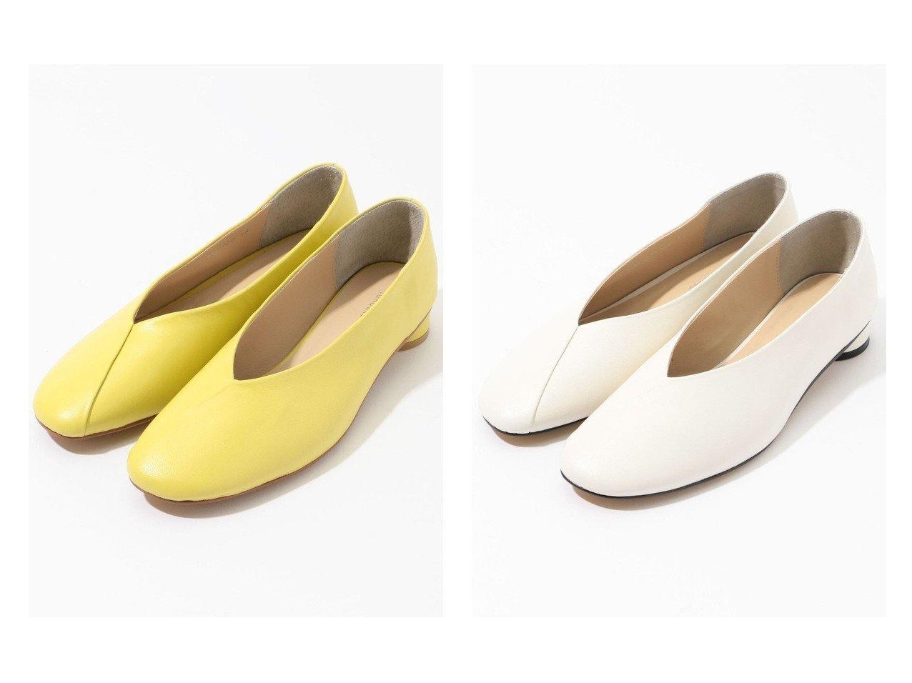 【TOMORROWLAND GOODs/トゥモローランド グッズ】のTOMORROWLAND カバードフラットシューズ シューズ・靴のおすすめ!人気、トレンド・レディースファッションの通販  おすすめで人気の流行・トレンド、ファッションの通販商品 メンズファッション・キッズファッション・インテリア・家具・レディースファッション・服の通販 founy(ファニー) https://founy.com/ ファッション Fashion レディースファッション WOMEN NEW・新作・新着・新入荷 New Arrivals イエロー シューズ フラット 今季 |ID:crp329100000009813