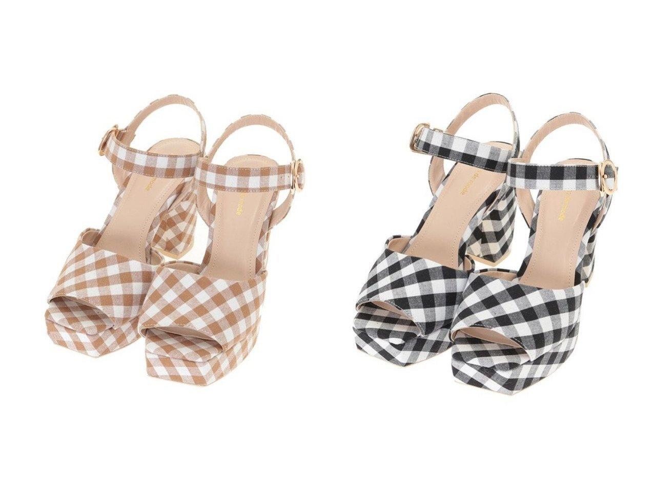 【31 Sons de mode/トランテアン ソン ドゥ モード】のギンガムチェックサンダル シューズ・靴のおすすめ!人気、トレンド・レディースファッションの通販  おすすめで人気の流行・トレンド、ファッションの通販商品 メンズファッション・キッズファッション・インテリア・家具・レディースファッション・服の通販 founy(ファニー) https://founy.com/ ファッション Fashion レディースファッション WOMEN サンダル シューズ ミュール |ID:crp329100000009829