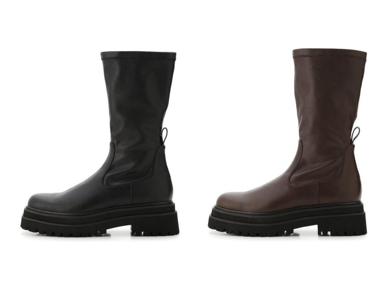 【Mila Owen/ミラオーウェン】のトラックソールストレッチブーツ シューズ・靴のおすすめ!人気、トレンド・レディースファッションの通販  おすすめで人気の流行・トレンド、ファッションの通販商品 メンズファッション・キッズファッション・インテリア・家具・レディースファッション・服の通販 founy(ファニー) https://founy.com/ ファッション Fashion レディースファッション WOMEN NEW・新作・新着・新入荷 New Arrivals 10月号 12月号 シューズ ショート ストレッチ バランス フィット フェイクレザー  ID:crp329100000009835
