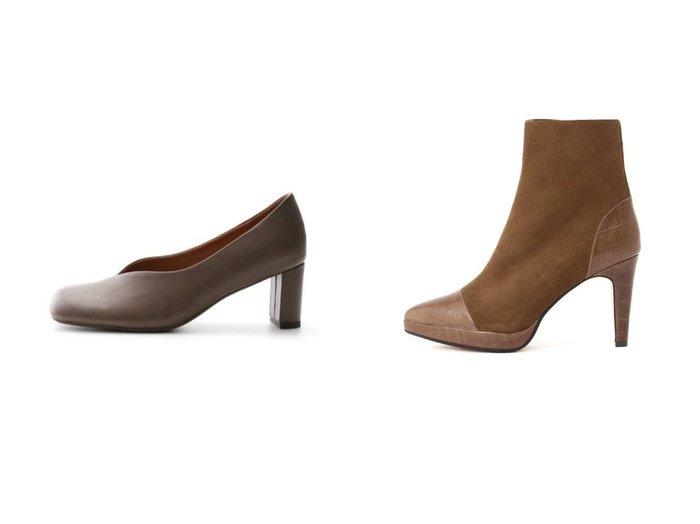 【Mila Owen/ミラオーウェン】のラウンドスクエアパンプス&【Pinky&Dianne/ピンキーアンドダイアン】のクロココンビネーションブーツ シューズ・靴のおすすめ!人気、トレンド・レディースファッションの通販  おすすめファッション通販アイテム レディースファッション・服の通販 founy(ファニー) ファッション Fashion レディースファッション WOMEN シューズ スタイリッシュ フェミニン フォルム マニッシュ クロコ ショート フィット |ID:crp329100000009851