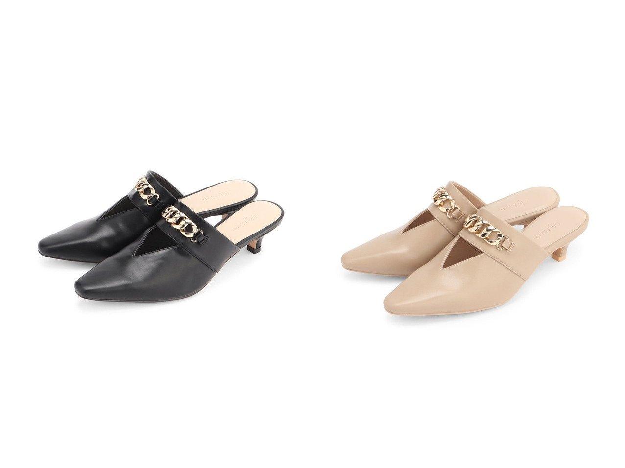 【Lily Brown/リリーブラウン】のチェーンポインテッドミュール シューズ・靴のおすすめ!人気、トレンド・レディースファッションの通販  おすすめで人気の流行・トレンド、ファッションの通販商品 メンズファッション・キッズファッション・インテリア・家具・レディースファッション・服の通販 founy(ファニー) https://founy.com/ ファッション Fashion レディースファッション WOMEN カッティング クール サンダル シューズ チェーン フェイクレザー ミュール |ID:crp329100000009854