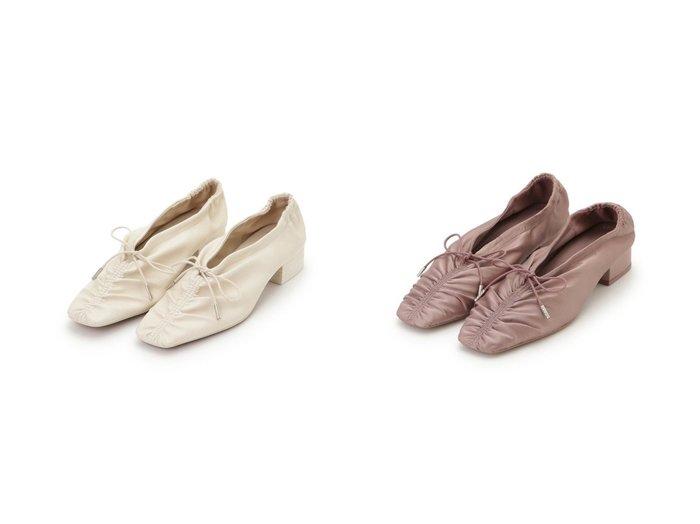 【SNIDEL/スナイデル】のギャザーレースアップパンプス シューズ・靴のおすすめ!人気、トレンド・レディースファッションの通販  おすすめファッション通販アイテム レディースファッション・服の通販 founy(ファニー) ファッション Fashion レディースファッション WOMEN ギャザー スマート フェミニン ベスト レース |ID:crp329100000009863