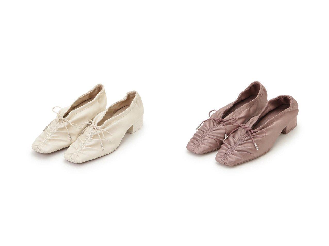 【SNIDEL/スナイデル】のギャザーレースアップパンプス シューズ・靴のおすすめ!人気、トレンド・レディースファッションの通販  おすすめで人気の流行・トレンド、ファッションの通販商品 メンズファッション・キッズファッション・インテリア・家具・レディースファッション・服の通販 founy(ファニー) https://founy.com/ ファッション Fashion レディースファッション WOMEN ギャザー スマート フェミニン ベスト レース |ID:crp329100000009863