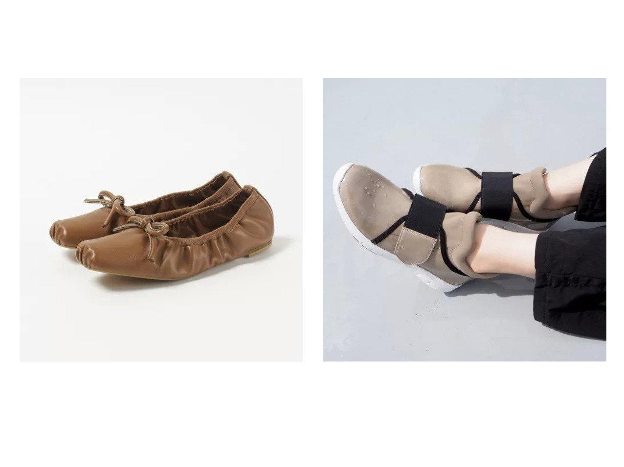 【enchanted/エンチャンテッド】の【晴雨兼用】フロントゴア防水スニーカー&【HEWN/ヒューン】のスクエアトゥバレエシューズ シューズ・靴のおすすめ!人気、トレンド・レディースファッションの通販  おすすめで人気の流行・トレンド、ファッションの通販商品 メンズファッション・キッズファッション・インテリア・家具・レディースファッション・服の通販 founy(ファニー) https://founy.com/ ファッション Fashion レディースファッション WOMEN ギャザー シャーリング シューズ バレエ フラット スニーカー フロント |ID:crp329100000009866