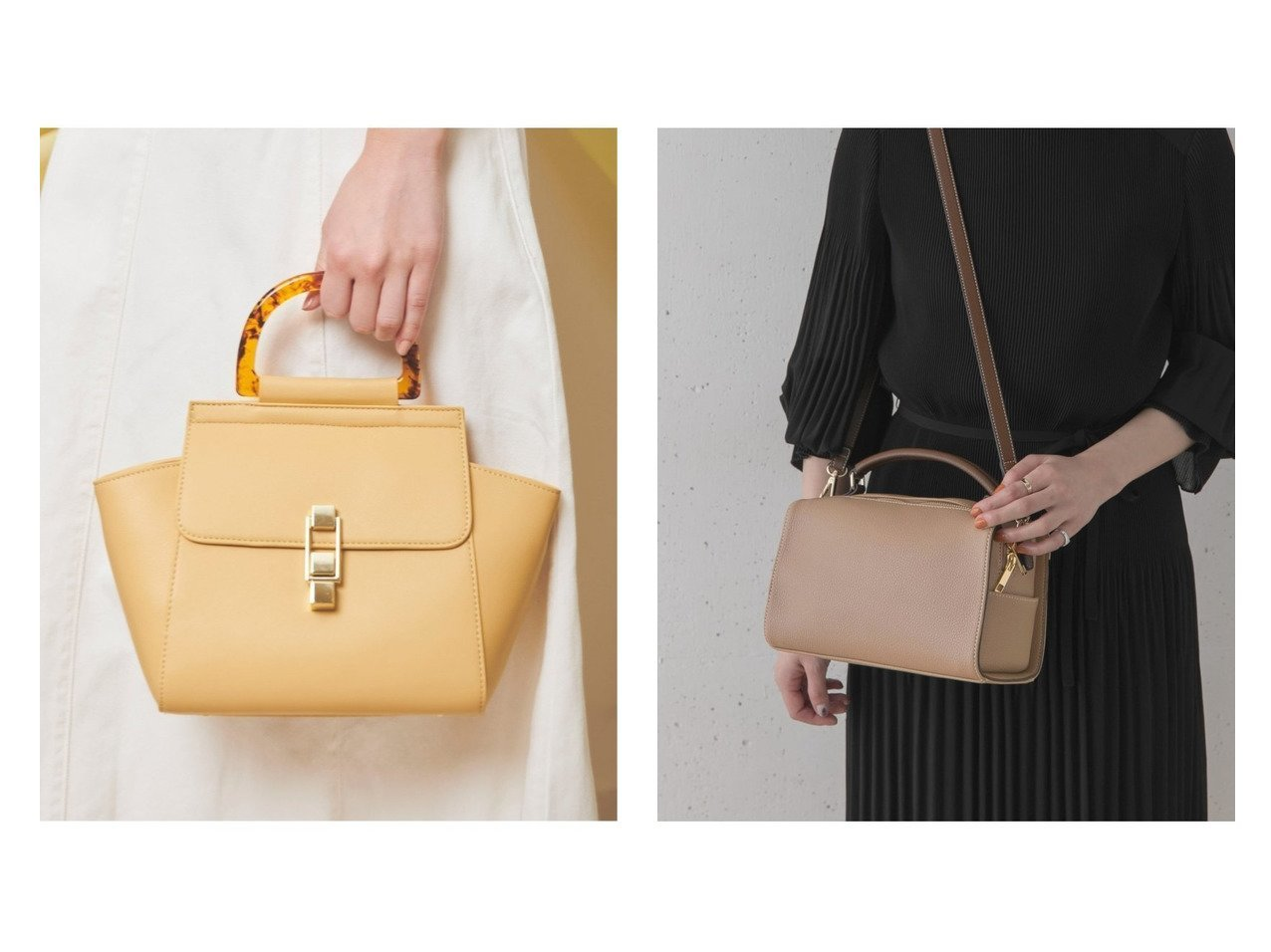 【URBAN RESEARCH ROSSO/アーバンリサーチ ロッソ】のスクエアボストンバッグ&【Noela/ノエラ】のべっ甲ハンドルバック バッグ・鞄のおすすめ!人気、トレンド・レディースファッションの通販  おすすめで人気の流行・トレンド、ファッションの通販商品 メンズファッション・キッズファッション・インテリア・家具・レディースファッション・服の通販 founy(ファニー) https://founy.com/ ファッション Fashion レディースファッション WOMEN バッグ Bag NEW・新作・新着・新入荷 New Arrivals シンプル 財布 A/W 秋冬 AW Autumn/Winter / FW Fall-Winter ショルダー スクエア ボストンバッグ 人気 今季 再入荷 Restock/Back in Stock/Re Arrival |ID:crp329100000009888