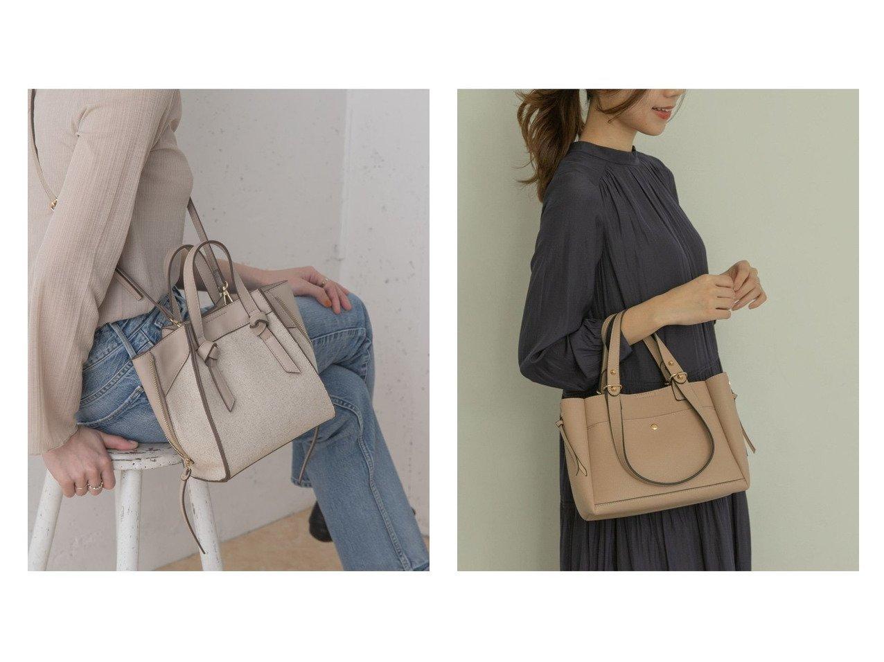 【RODE SKO/ロデスコ】のABRIL プチサイドファスナー2WAYトート&【URBAN RESEARCH ROSSO/アーバンリサーチ ロッソ】のキャンバスコンビミニトート バッグ・鞄のおすすめ!人気、トレンド・レディースファッションの通販  おすすめで人気の流行・トレンド、ファッションの通販商品 メンズファッション・キッズファッション・インテリア・家具・レディースファッション・服の通販 founy(ファニー) https://founy.com/ ファッション Fashion レディースファッション WOMEN バッグ Bag NEW・新作・新着・新入荷 New Arrivals 再入荷 Restock/Back in Stock/Re Arrival コンパクト ショルダー シンプル ジップ スカーフ チャーム ワンポイント 人気 |ID:crp329100000009894