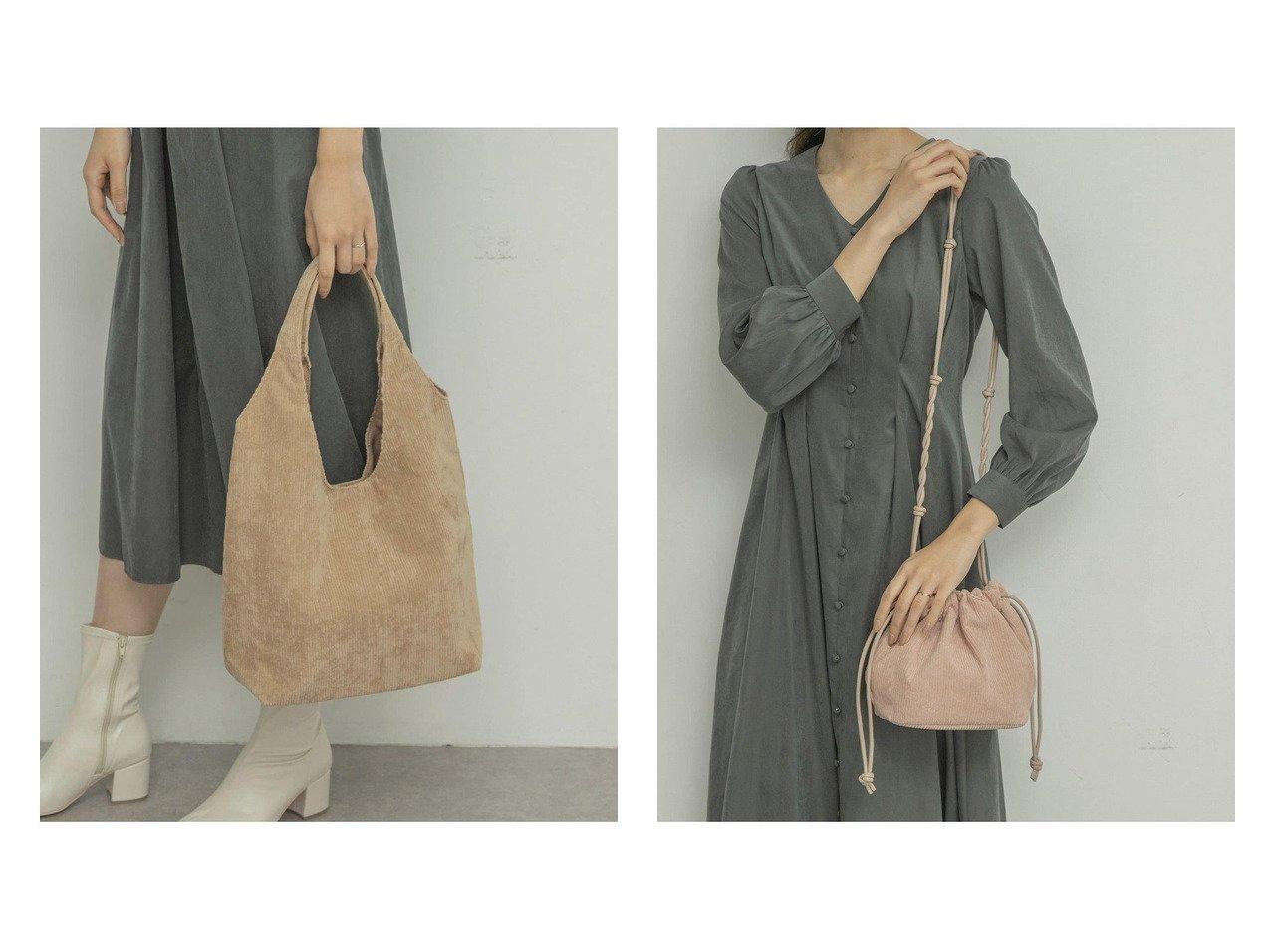 【RODE SKO/ロデスコ】のMARILOU コーデュロイトートバッグ&MARILU コーデュロイキンチャクバッグ バッグ・鞄のおすすめ!人気、トレンド・レディースファッションの通販  おすすめで人気の流行・トレンド、ファッションの通販商品 メンズファッション・キッズファッション・インテリア・家具・レディースファッション・服の通販 founy(ファニー) https://founy.com/ ファッション Fashion レディースファッション WOMEN バッグ Bag コーデュロイ ショルダー 巾着 |ID:crp329100000009900