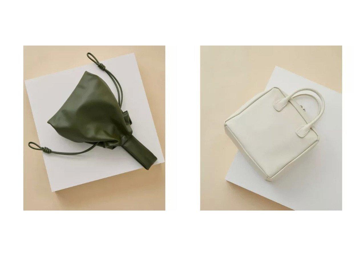 【Adam et Rope/アダム エ ロペ】のソフトスモールボストン&レザー巾着ミディアムバッグ バッグ・鞄のおすすめ!人気、トレンド・レディースファッションの通販  おすすめで人気の流行・トレンド、ファッションの通販商品 メンズファッション・キッズファッション・インテリア・家具・レディースファッション・服の通販 founy(ファニー) https://founy.com/ ファッション Fashion レディースファッション WOMEN バッグ Bag ショルダー ハンドバッグ フォルム リアル 巾着 シルバー シンプル ボストンバッグ A/W 秋冬 AW Autumn/Winter / FW Fall-Winter  ID:crp329100000009937