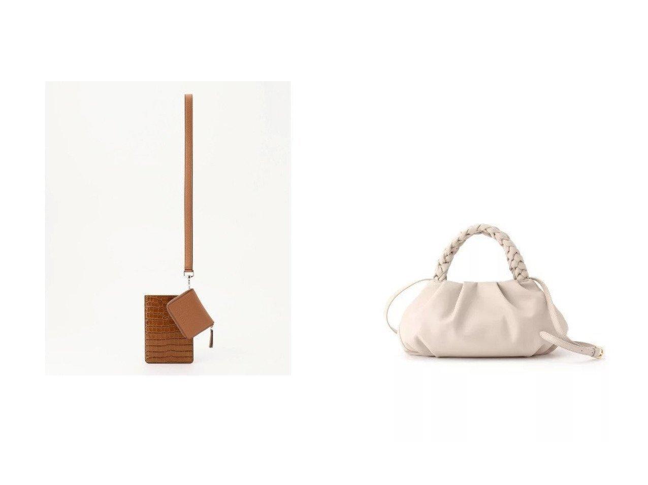 【JOSEPH/ジョゼフ】のクラッチ ショルダーバッグ&【UNTITLED/アンタイトル】のソフトタック三つ編みハンドバッグ バッグ・鞄のおすすめ!人気、トレンド・レディースファッションの通販  おすすめで人気の流行・トレンド、ファッションの通販商品 メンズファッション・キッズファッション・インテリア・家具・レディースファッション・服の通販 founy(ファニー) https://founy.com/ ファッション Fashion レディースファッション WOMEN バッグ Bag クラッチ スマホ ポーチ 人気 ハンドバッグ フォルム ベーシック ポケット  ID:crp329100000009943