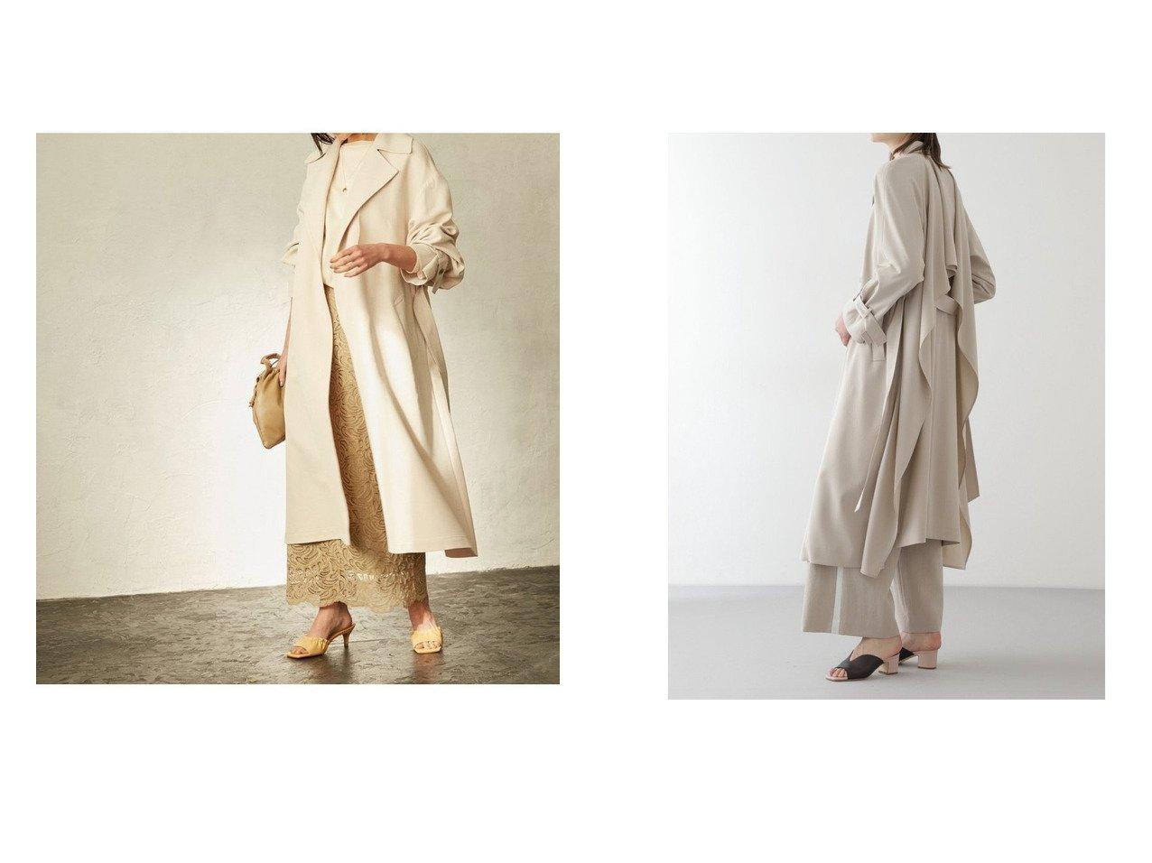 【BOSCH/ボッシュ】のバックドレープコート&【ROPE/ロペ】のガウントレンチコート アウターのおすすめ!人気、トレンド・レディースファッションの通販  おすすめで人気の流行・トレンド、ファッションの通販商品 メンズファッション・キッズファッション・インテリア・家具・レディースファッション・服の通販 founy(ファニー) https://founy.com/ ファッション Fashion レディースファッション WOMEN アウター Coat Outerwear コート Coats ジャケット Jackets トレンチコート Trench Coats バッグ Bag NEW・新作・新着・新入荷 New Arrivals ガウン コンパクト ジャケット トレンチ ドレープ パターン フェミニン ポケット ビッグ フロント リラックス 再入荷 Restock/Back in Stock/Re Arrival 定番  ID:crp329100000009947