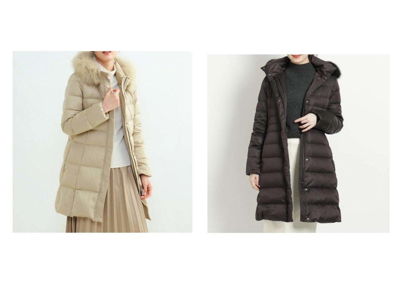【COUP DE CHANCE/クード シャンス】のロングダウンコート&【INDIVI/インディヴィ】のシルキーサテンダウンコート アウターのおすすめ!人気、トレンド・レディースファッションの通販  おすすめで人気の流行・トレンド、ファッションの通販商品 メンズファッション・キッズファッション・インテリア・家具・レディースファッション・服の通販 founy(ファニー) https://founy.com/ ファッション Fashion レディースファッション WOMEN アウター Coat Outerwear コート Coats ジャケット Jackets ダウン Down Coats And Jackets NEW・新作・新着・新入荷 New Arrivals ギャザー ジャケット ダウン ハイネック バランス フォックス ポケット ロング 防寒  ID:crp329100000009950