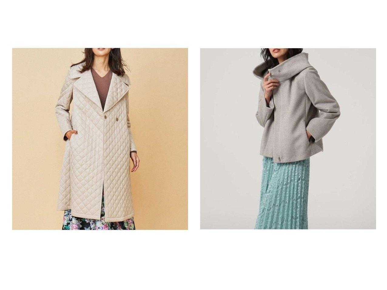 【UNTITLED/アンタイトル】のビッグカラーショートウールコート&【KUMIKYOKU/組曲】の【Rythme KUMIKYOKU】キルティング ドレス コート アウターのおすすめ!人気、トレンド・レディースファッションの通販  おすすめで人気の流行・トレンド、ファッションの通販商品 メンズファッション・キッズファッション・インテリア・家具・レディースファッション・服の通販 founy(ファニー) https://founy.com/ ファッション Fashion レディースファッション WOMEN アウター Coat Outerwear コート Coats ジャケット Jackets ワンピース Dress ドレス Party Dresses キルティング キルト コレクション ジャケット ツイル ドレス パターン フラワー ベーシック モチーフ ローズ 冬 Winter 2021年 2021 S/S 春夏 SS Spring/Summer 2021 春夏 S/S SS Spring/Summer 2021 NEW・新作・新着・新入荷 New Arrivals ウォーム ショート スタンド バランス ビッグ フェミニン プリーツ  ID:crp329100000009958