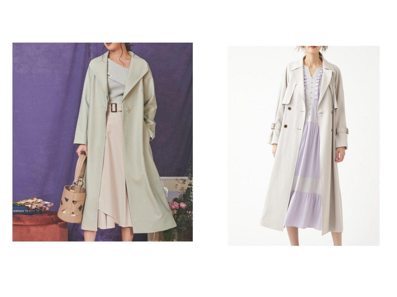 【JILLSTUART/ジルスチュアート】のレニーコート&【Noela/ノエラ】のバックフレアスプリングコート アウターのおすすめ!人気、トレンド・レディースファッションの通販  おすすめで人気の流行・トレンド、ファッションの通販商品 メンズファッション・キッズファッション・インテリア・家具・レディースファッション・服の通販 founy(ファニー) https://founy.com/ ファッション Fashion レディースファッション WOMEN アウター Coat Outerwear コート Coats ジャケット Jackets バッグ Bag NEW・新作・新着・新入荷 New Arrivals ジャケット フレア ロング 春 ショート スリーブ ツイル バランス ラベンダー |ID:crp329100000009965