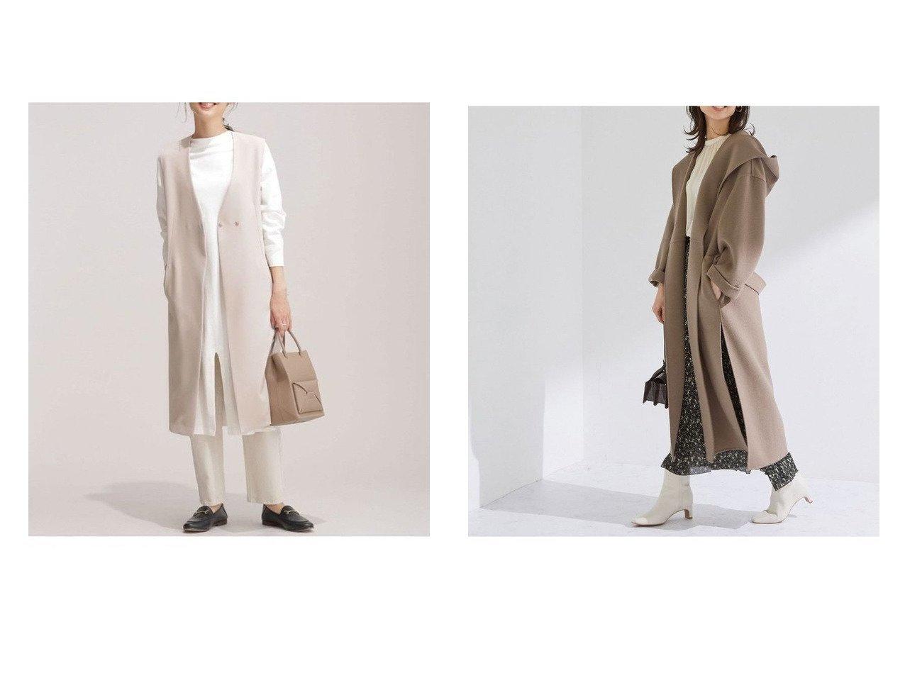 【ROPE/ロペ】のスリットリバーフードコート&【nano universe/ナノ ユニバース】のカセット6ファンクション ロングジレ (セットアップ可) アウターのおすすめ!人気、トレンド・レディースファッションの通販  おすすめで人気の流行・トレンド、ファッションの通販商品 メンズファッション・キッズファッション・インテリア・家具・レディースファッション・服の通販 founy(ファニー) https://founy.com/ ファッション Fashion レディースファッション WOMEN アウター Coat Outerwear トップス Tops Tshirt キャミソール / ノースリーブ No Sleeves ベスト/ジレ Gilets Vests カットソー Cut and Sewn コート Coats ジャケット Jackets オケージョン カットソー シンプル ジャケット ストレッチ スリット セットアップ 再入荷 Restock/Back in Stock/Re Arrival NEW・新作・新着・新入荷 New Arrivals |ID:crp329100000009968