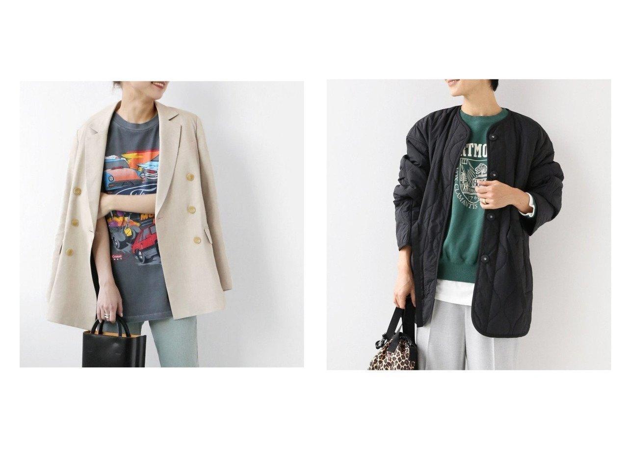 【JOURNAL STANDARD relume/ジャーナルスタンダード レリューム】のリネンブレンドWブレステッドジャケット&キルティングブルゾン アウターのおすすめ!人気、トレンド・レディースファッションの通販  おすすめで人気の流行・トレンド、ファッションの通販商品 メンズファッション・キッズファッション・インテリア・家具・レディースファッション・服の通販 founy(ファニー) https://founy.com/ ファッション Fashion レディースファッション WOMEN アウター Coat Outerwear コート Coats ジャケット Jackets テーラードジャケット Tailored Jackets ブルゾン Blouson Jackets NEW・新作・新着・新入荷 New Arrivals 2020年 2020 2020-2021 秋冬 A/W AW Autumn/Winter / FW Fall-Winter 2020-2021 A/W 秋冬 AW Autumn/Winter / FW Fall-Winter ジャケット ダブル マニッシュ リネン 2021年 2021 2021 春夏 S/S SS Spring/Summer 2021 S/S 春夏 SS Spring/Summer キルティング ブルゾン |ID:crp329100000009986