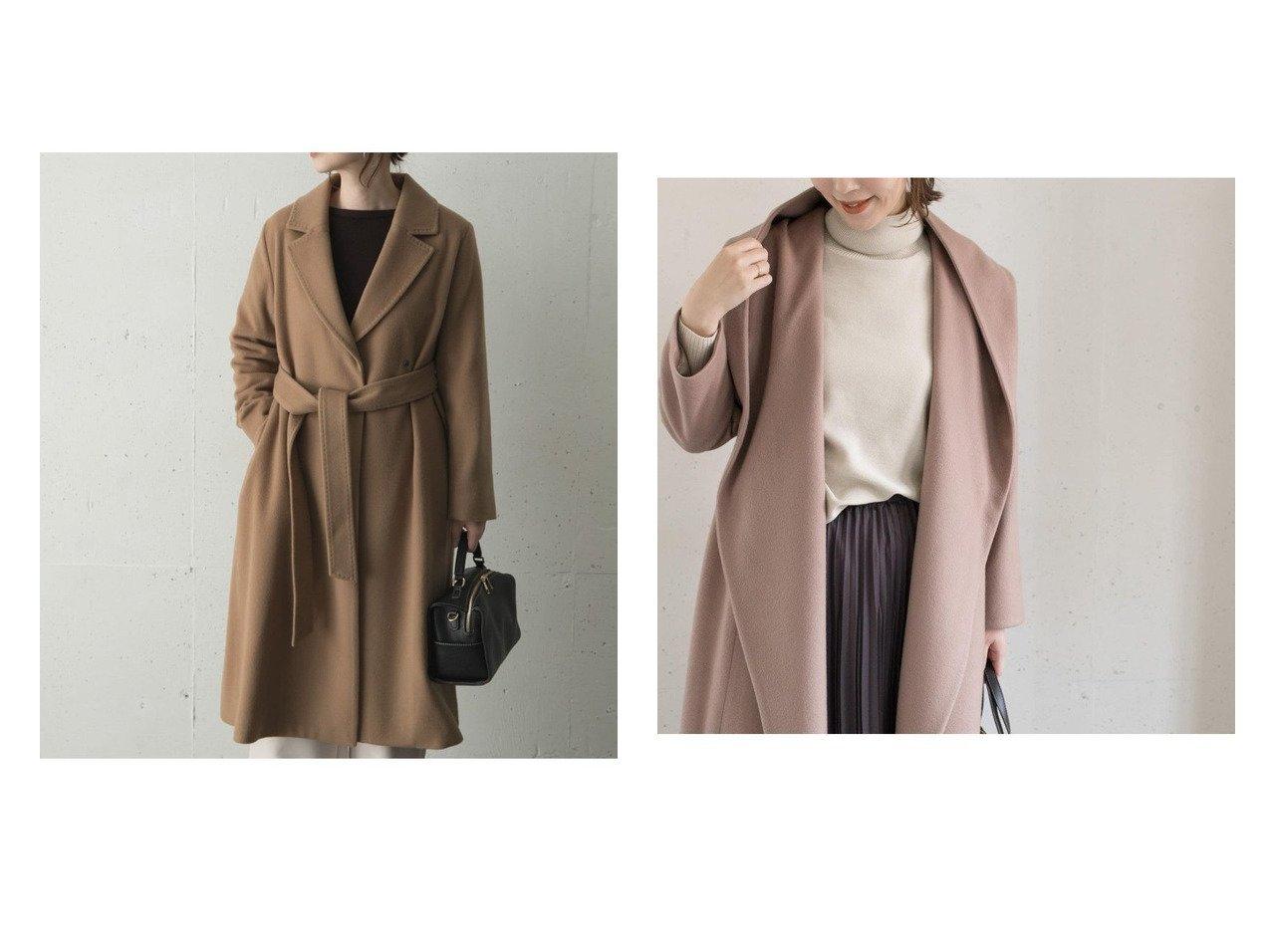 【URBAN RESEARCH ROSSO/アーバンリサーチ ロッソ】のカシミヤ混コート&ガウンフードコート アウターのおすすめ!人気、トレンド・レディースファッションの通販  おすすめで人気の流行・トレンド、ファッションの通販商品 メンズファッション・キッズファッション・インテリア・家具・レディースファッション・服の通販 founy(ファニー) https://founy.com/ ファッション Fashion レディースファッション WOMEN アウター Coat Outerwear コート Coats ジャケット Jackets チェスターコート Top Coat NEW・新作・新着・新入荷 New Arrivals エレガント カシミア カシミヤ ガウン ジャケット チェスターコート ハンド バランス フレア ポケット リボン ワイド 今季 |ID:crp329100000009995
