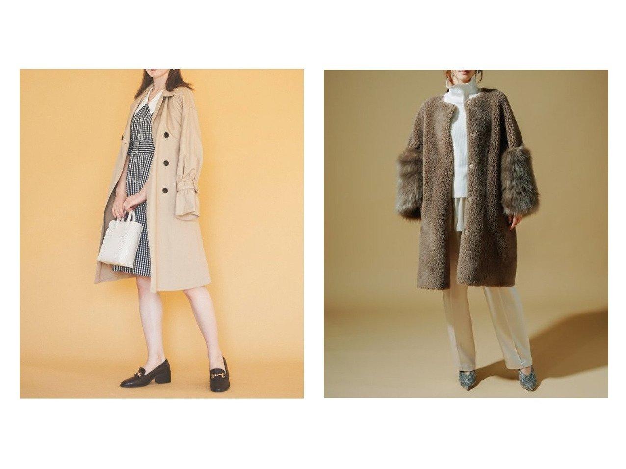 【CELFORD/セルフォード】の袖ファー付きボアコート&【31 Sons de mode/トランテアン ソン ドゥ モード】のキャンディスリーブトレンチコート アウターのおすすめ!人気、トレンド・レディースファッションの通販  おすすめで人気の流行・トレンド、ファッションの通販商品 メンズファッション・キッズファッション・インテリア・家具・レディースファッション・服の通販 founy(ファニー) https://founy.com/ ファッション Fashion レディースファッション WOMEN アウター Coat Outerwear コート Coats ジャケット Jackets トレンチコート Trench Coats 2021年 2021 2021 春夏 S/S SS Spring/Summer 2021 S/S 春夏 SS Spring/Summer ギャザー ジャケット フィット フレア エレガント ボンディング |ID:crp329100000010008