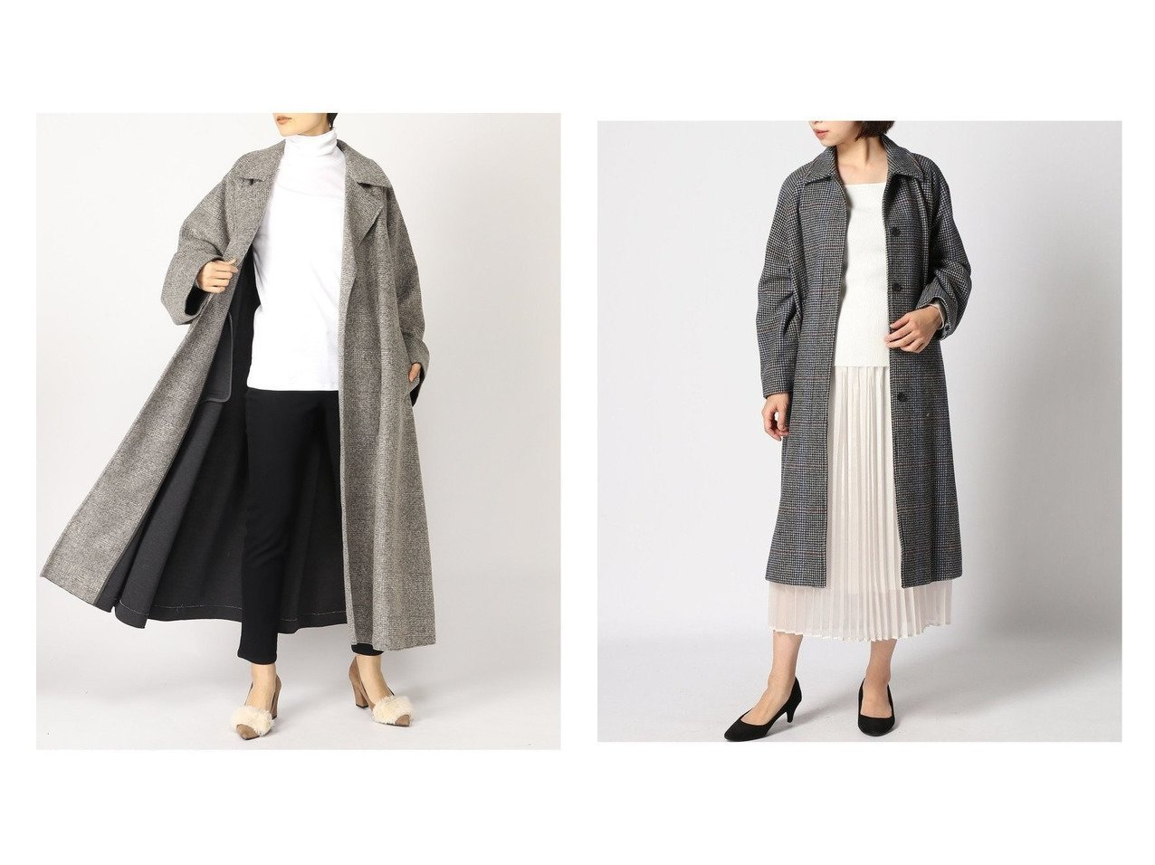 【JOURNAL STANDARD relume/ジャーナルスタンダード レリューム】のBISHU ステンカラーチェック&【Spick & Span/スピック&スパン】のWスライバーローブコート アウターのおすすめ!人気、トレンド・レディースファッションの通販  おすすめで人気の流行・トレンド、ファッションの通販商品 メンズファッション・キッズファッション・インテリア・家具・レディースファッション・服の通販 founy(ファニー) https://founy.com/ ファッション Fashion レディースファッション WOMEN アウター Coat Outerwear コート Coats ジャケット Jackets ノーカラージャケット No Collar Leather Jackets NEW・新作・新着・新入荷 New Arrivals 2020年 2020 2020-2021 秋冬 A/W AW Autumn/Winter / FW Fall-Winter 2020-2021 A/W 秋冬 AW Autumn/Winter / FW Fall-Winter インナー ジャケット ダウン ロング なめらか チェック  ID:crp329100000010013