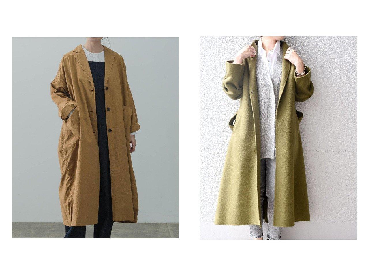 【SHIPS/シップス フォー ウィメン】のMANTECO リバーコート&【kagure/かぐれ】のコットンシルクビッグコート アウターのおすすめ!人気、トレンド・レディースファッションの通販  おすすめで人気の流行・トレンド、ファッションの通販商品 メンズファッション・キッズファッション・インテリア・家具・レディースファッション・服の通販 founy(ファニー) https://founy.com/ ファッション Fashion レディースファッション WOMEN アウター Coat Outerwear コート Coats ジャケット Jackets インナー シルク シンプル ジャケット ビッグ ロング  ID:crp329100000010017