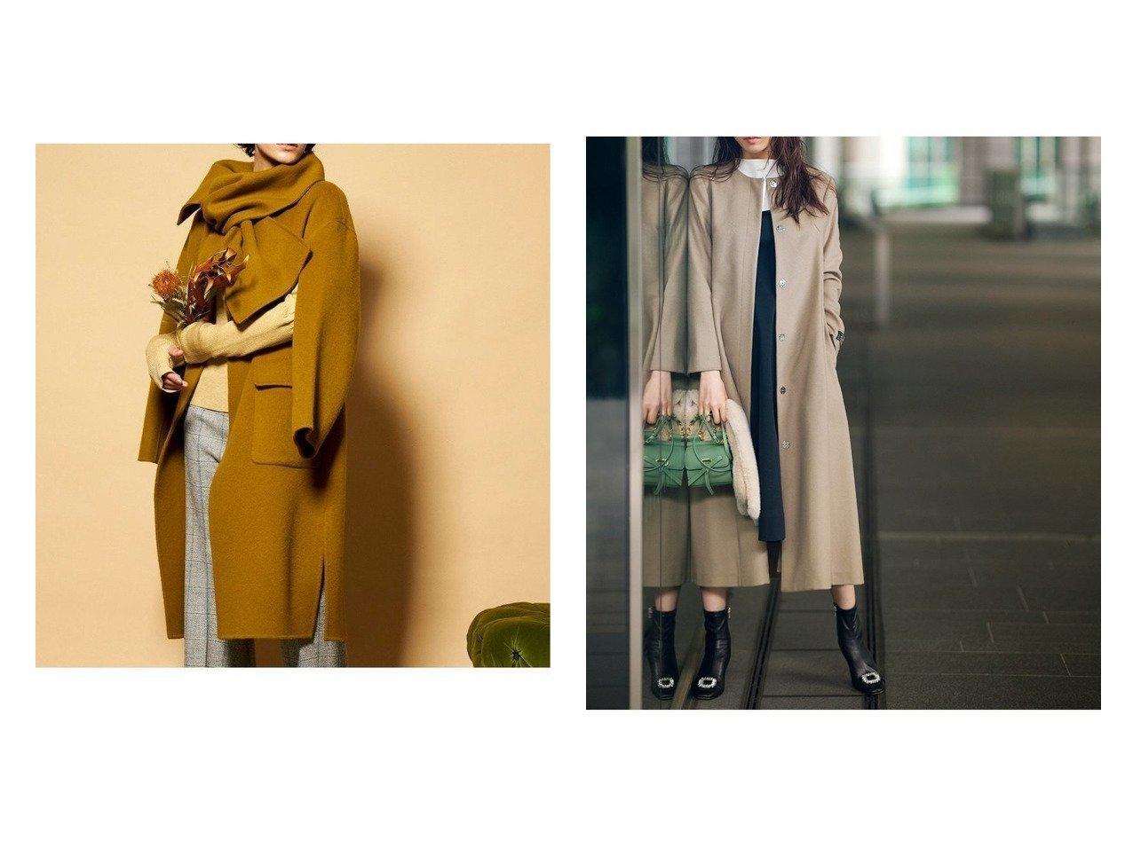 【CELFORD/セルフォード】のクルーネックフレアコート&【MAISON SPECIAL/メゾンスペシャル】のマフラー付きスリーブアウトリバーコート アウターのおすすめ!人気、トレンド・レディースファッションの通販  おすすめで人気の流行・トレンド、ファッションの通販商品 メンズファッション・キッズファッション・インテリア・家具・レディースファッション・服の通販 founy(ファニー) https://founy.com/ ファッション Fashion レディースファッション WOMEN アウター Coat Outerwear コート Coats ジャケット Jackets マフラー Mufflers インナー ジャケット スリット フォルム マフラー ミュール リラックス イタリア カシミヤ シンプル ドレス フレア ベーシック  ID:crp329100000010021