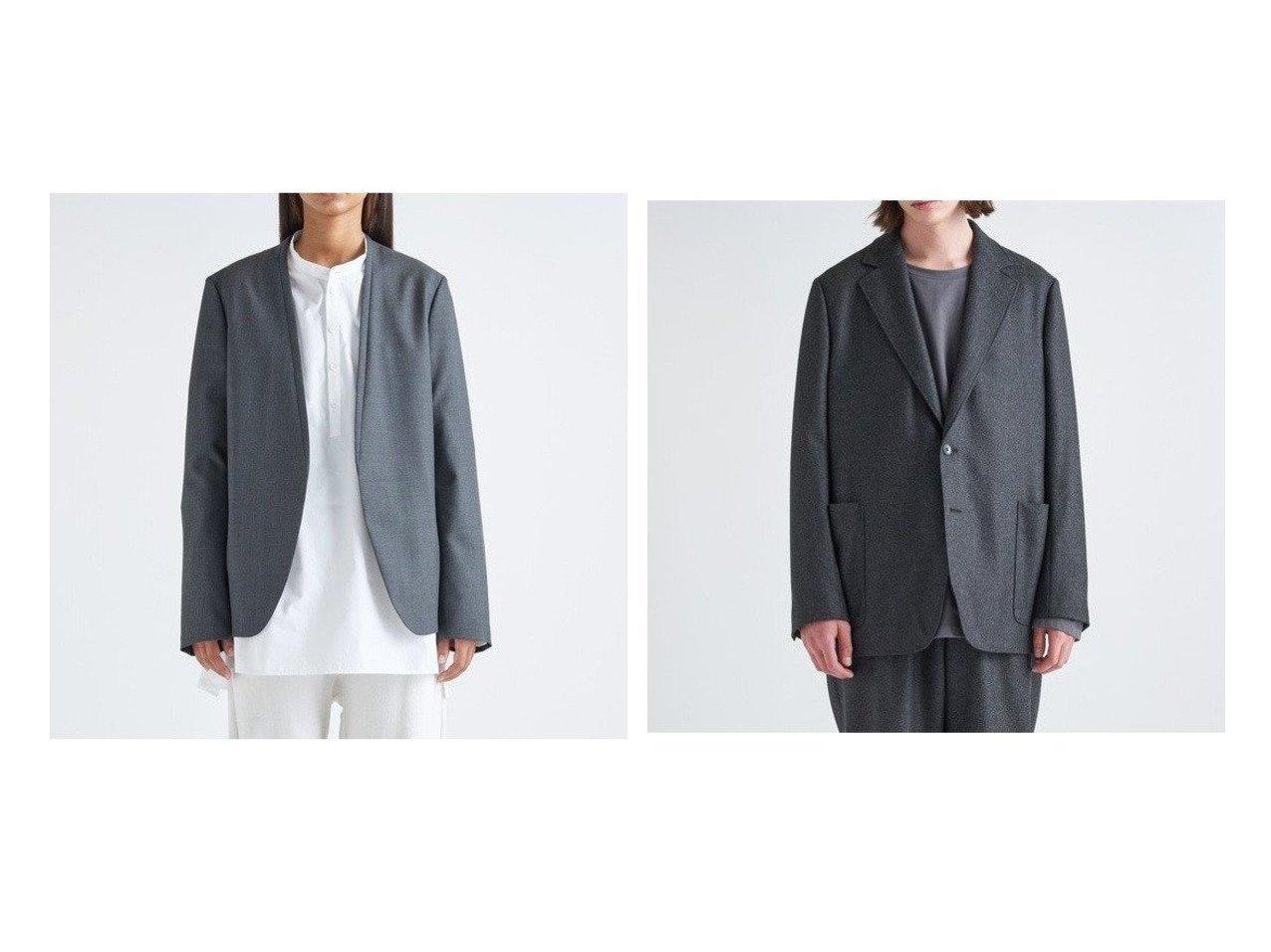 【ATON/エイトン】のタキシードカラージャケット(UNISEX)&パッチポケットジャケット(UNISEX) アウターのおすすめ!人気、トレンド・レディースファッションの通販  おすすめで人気の流行・トレンド、ファッションの通販商品 メンズファッション・キッズファッション・インテリア・家具・レディースファッション・服の通販 founy(ファニー) https://founy.com/ ファッション Fashion レディースファッション WOMEN アウター Coat Outerwear ジャケット Jackets カーディガン ジャケット パイピング フォーム ポケット UNISEX 送料無料 Free Shipping |ID:crp329100000010054